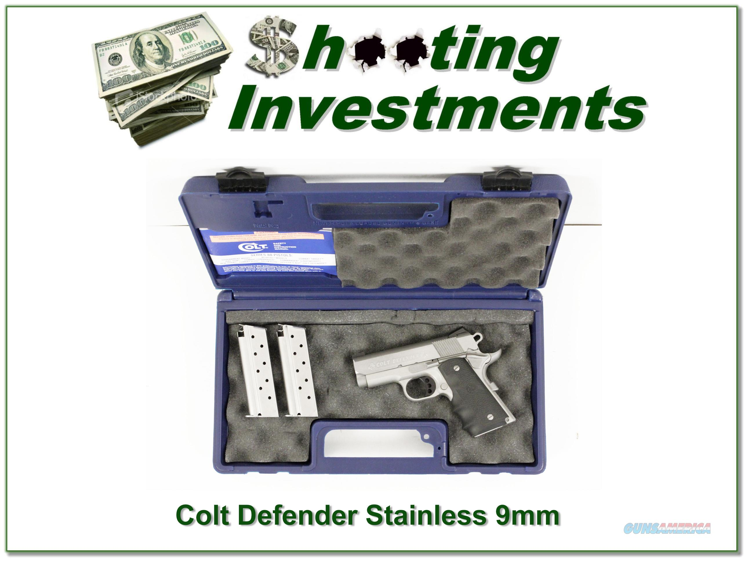 Colt Defender Lightweight Stainless 9mm  Guns > Pistols > Colt Automatic Pistols (.25, .32, & .380 cal)