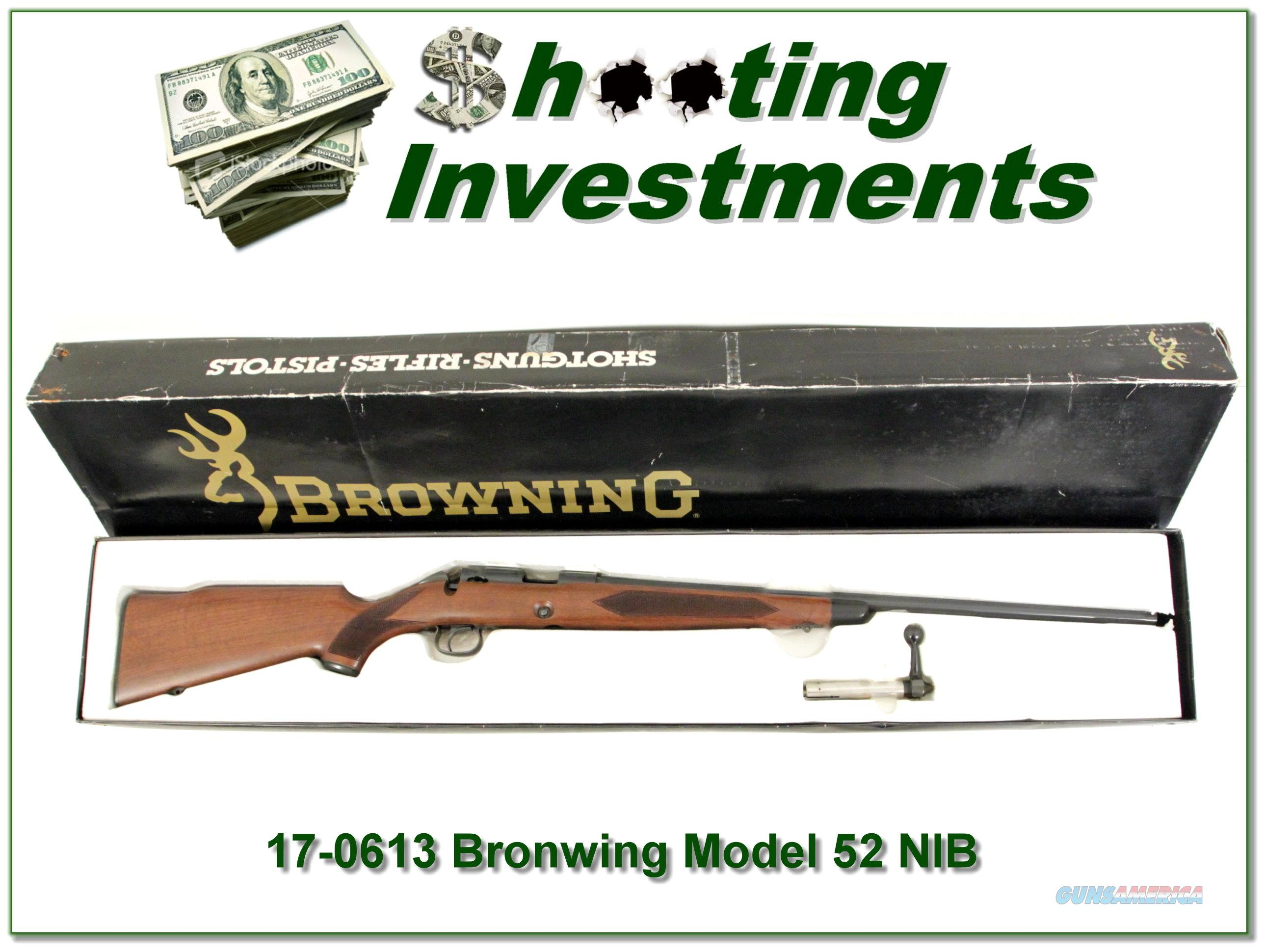 Browning Model 52 22 Rimfire in box!  Guns > Rifles > Browning Rifles > Bolt Action > Hunting > Blue