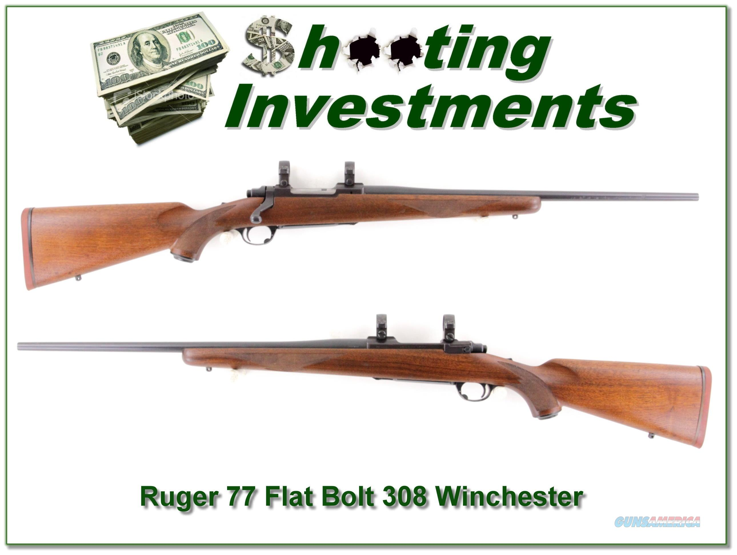 Ruger 77 308 Winchester early Flatbolt!  Guns > Rifles > Ruger Rifles > Model 77