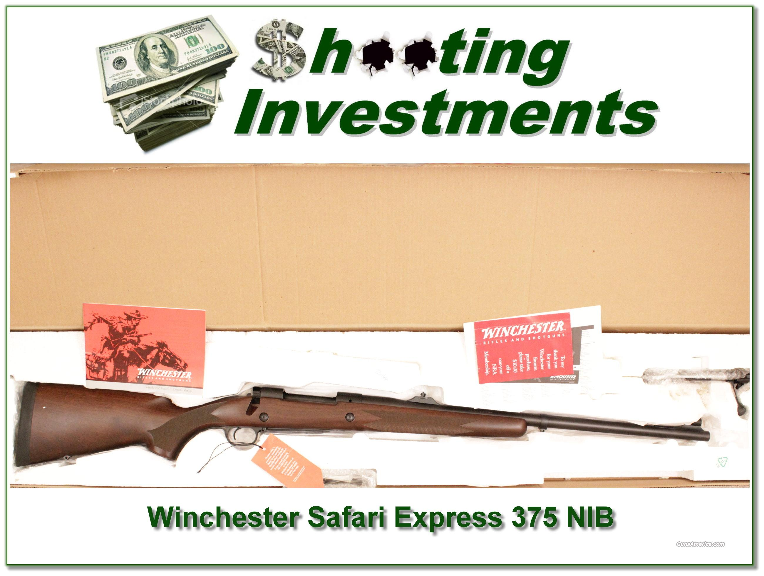Winchesters 70 Safari Express 375 H&H NIB  Guns > Rifles > Winchester Rifles - Modern Bolt/Auto/Single > Model 70 > Post-64