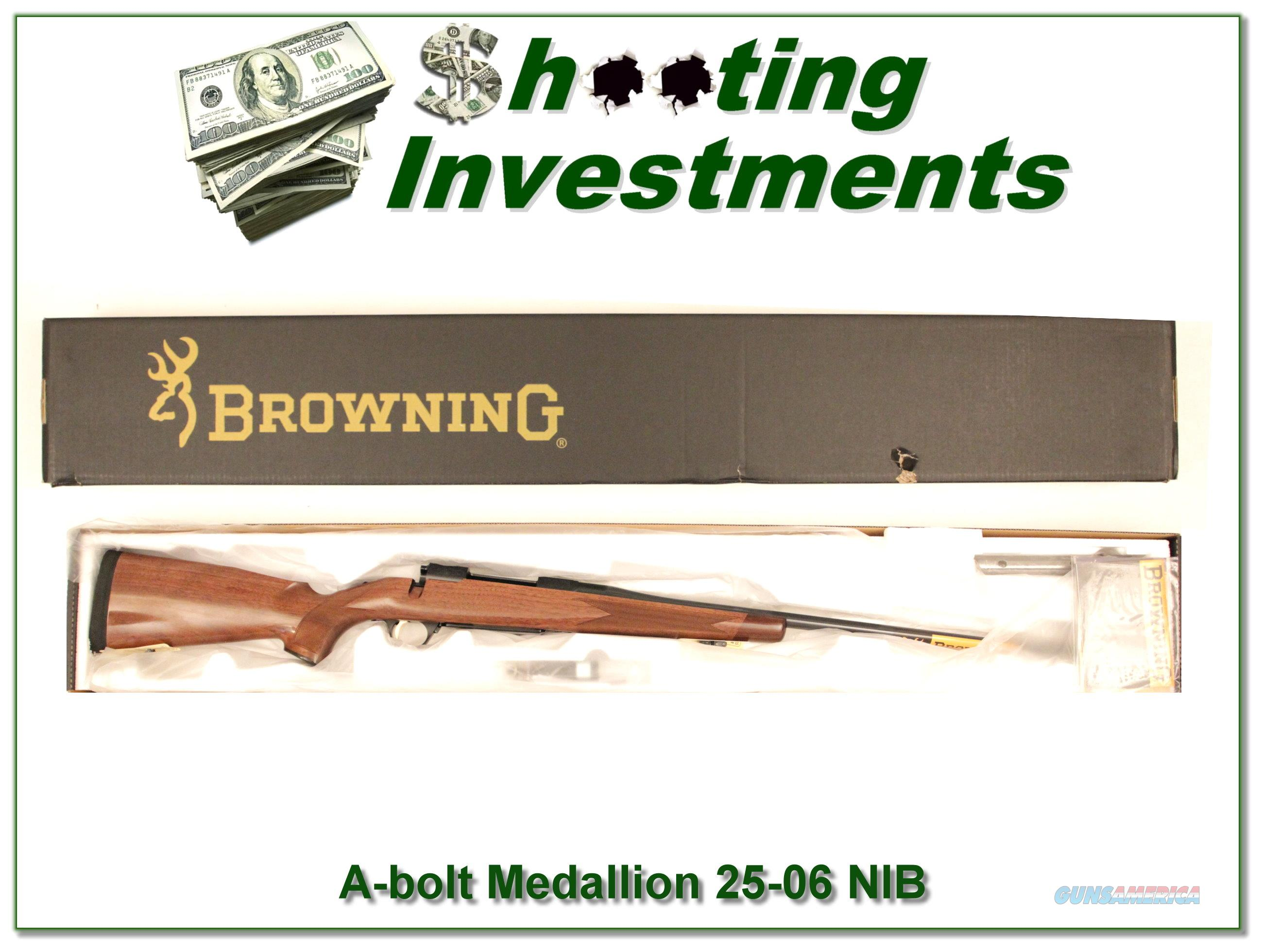 Browning A-bolt II Medallion 25-06 last of the new ones!  Guns > Rifles > Browning Rifles > Bolt Action > Hunting > Blue