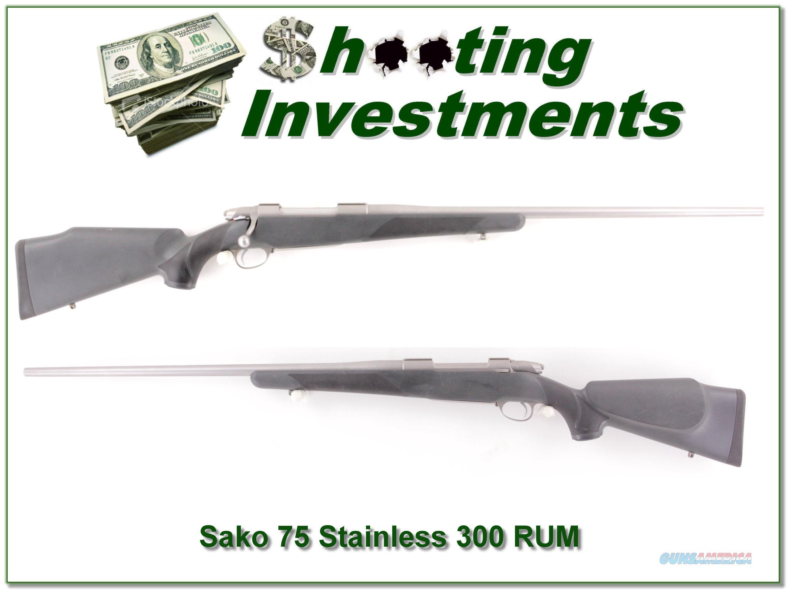 Sako 75 All-Weather Stainless 300 RUM RARE!  Guns > Rifles > Sako Rifles > M75 Series