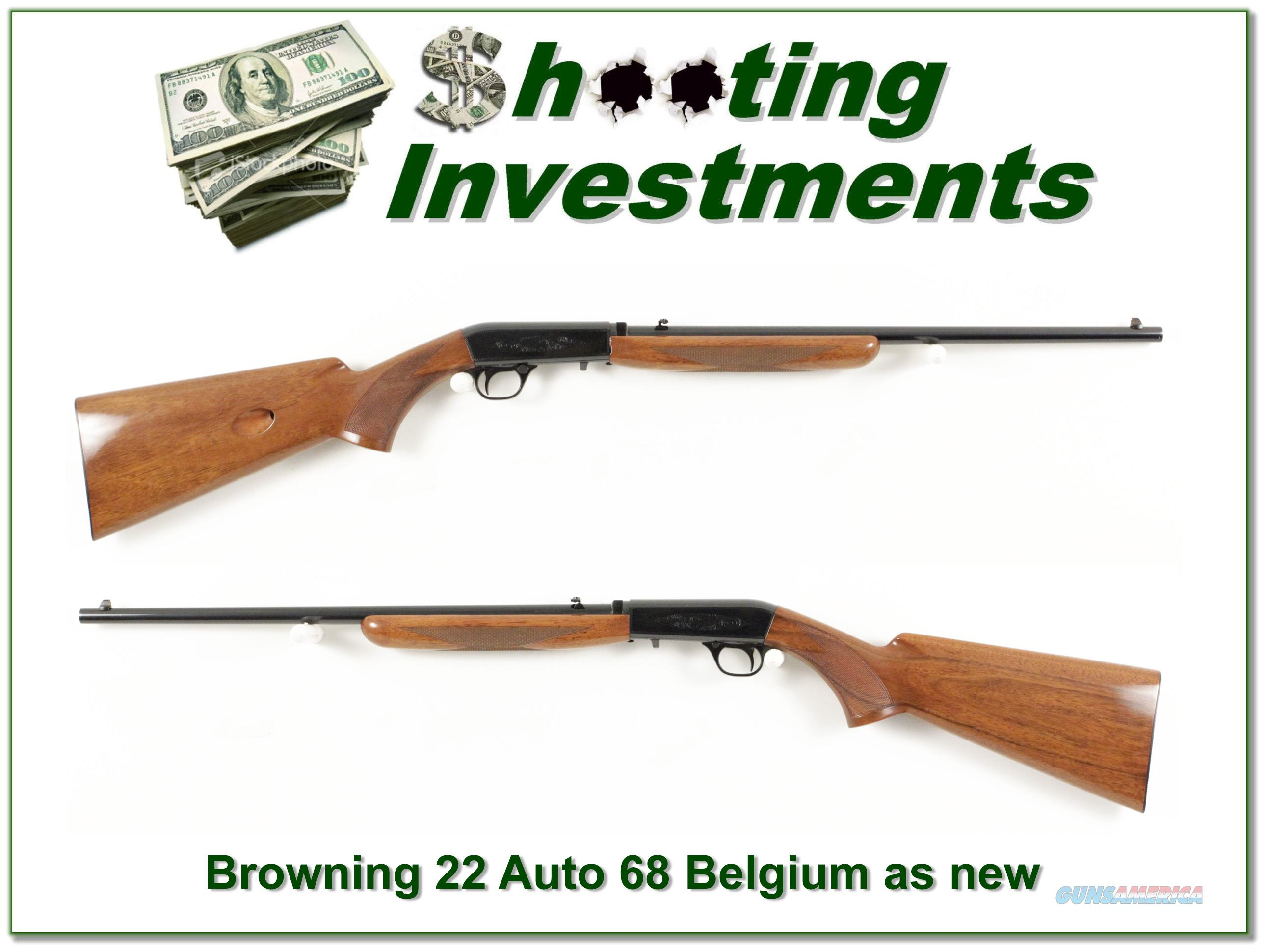 Browning ATD 22 Auto 68 Belgium collector!  Guns > Rifles > Browning Rifles > Semi Auto > Hunting