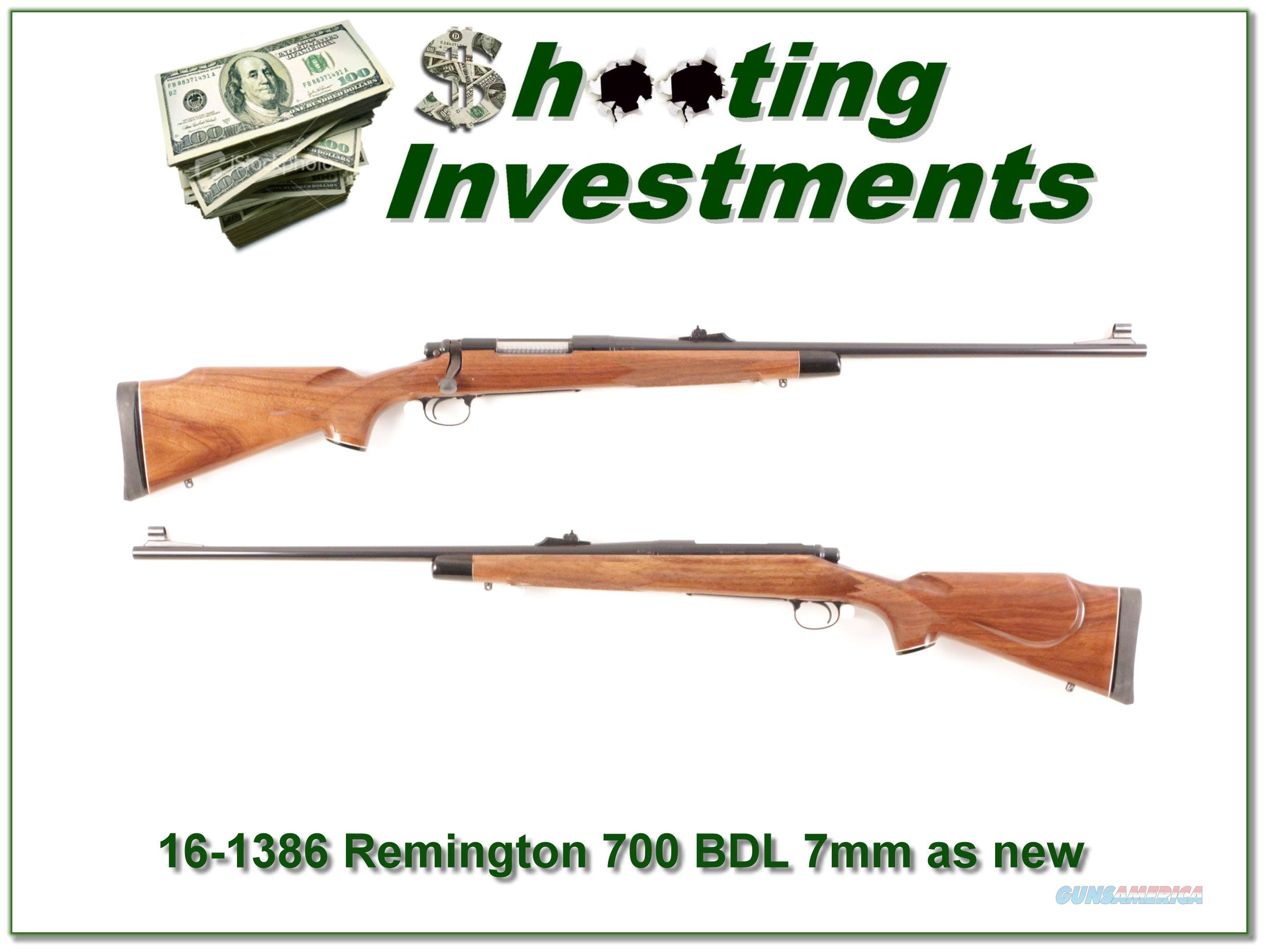 Remington 700 BDL Deluxe 7mm Rem Mag looks new!  Guns > Rifles > Remington Rifles - Modern > Model 700 > Sporting