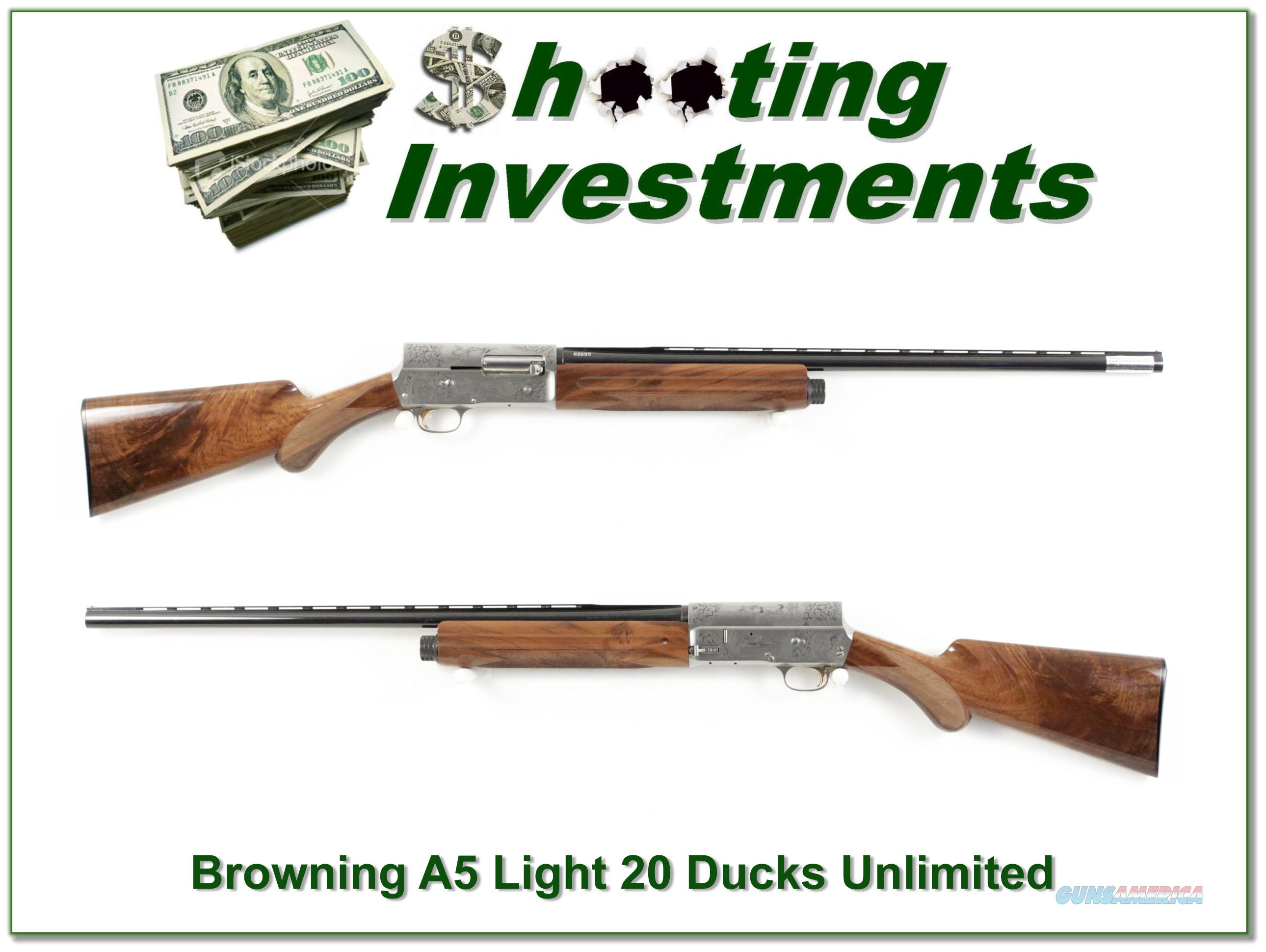 Browning A5 20 Gauge Ducks Unlimited unfired XX Wood!  Guns > Shotguns > Browning Shotguns > Autoloaders > Hunting