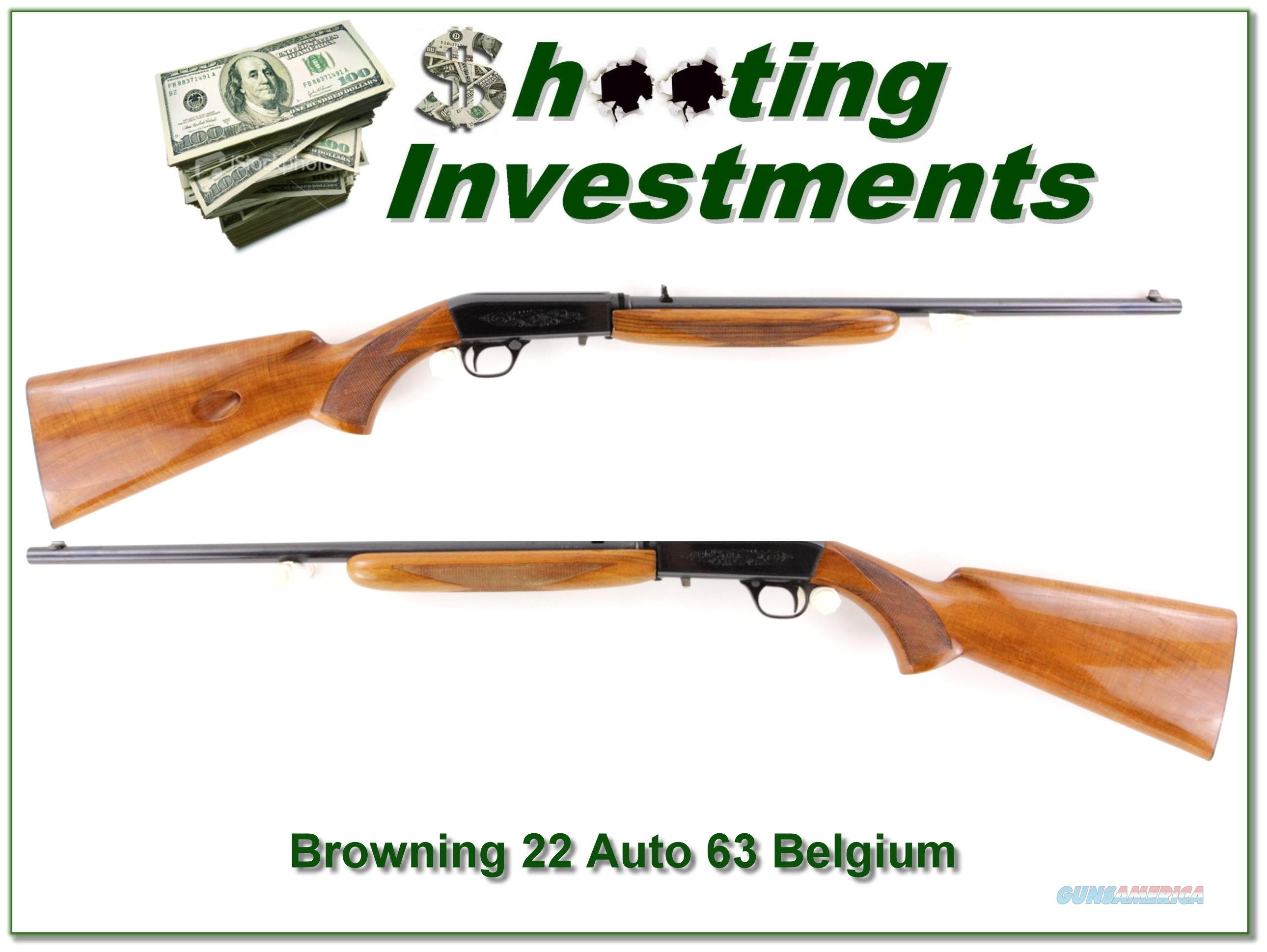 Browning 22 Auto 63 Belgium Blond Exc Cond  Guns > Rifles > Browning Rifles > Semi Auto > Hunting