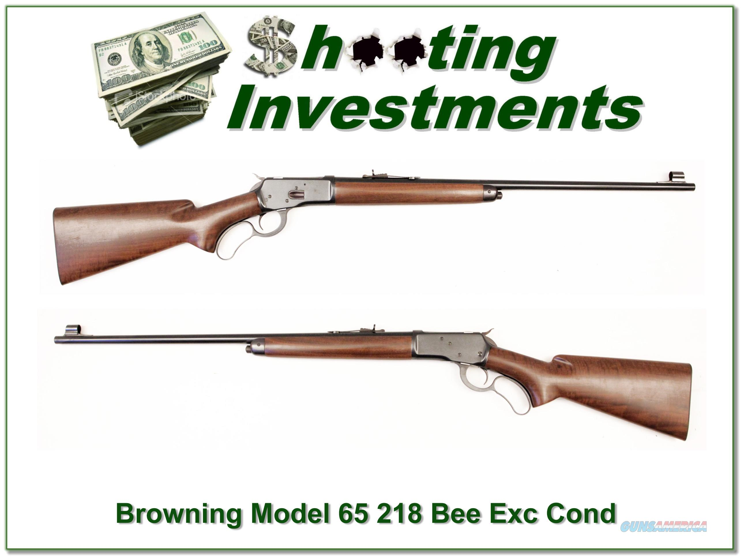 Browning Model 65 Lever Action 218 Bee Exc Cond!  Guns > Rifles > Browning Rifles > Lever Action