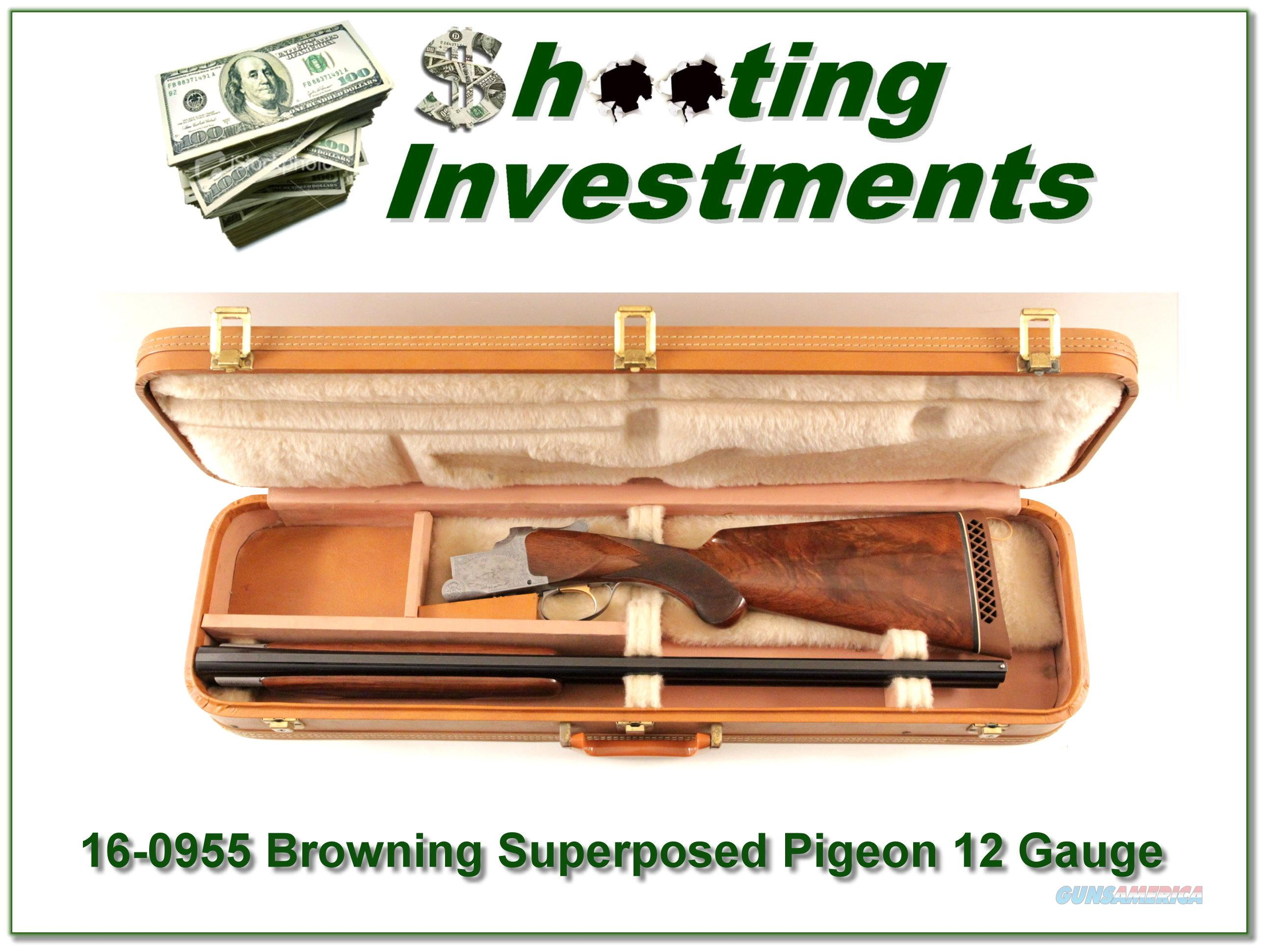Browning 1961 Superposed Pigeon Grade 12 Gauge ANIC  Guns > Shotguns > Browning Shotguns > Over Unders > Belgian Manufacture