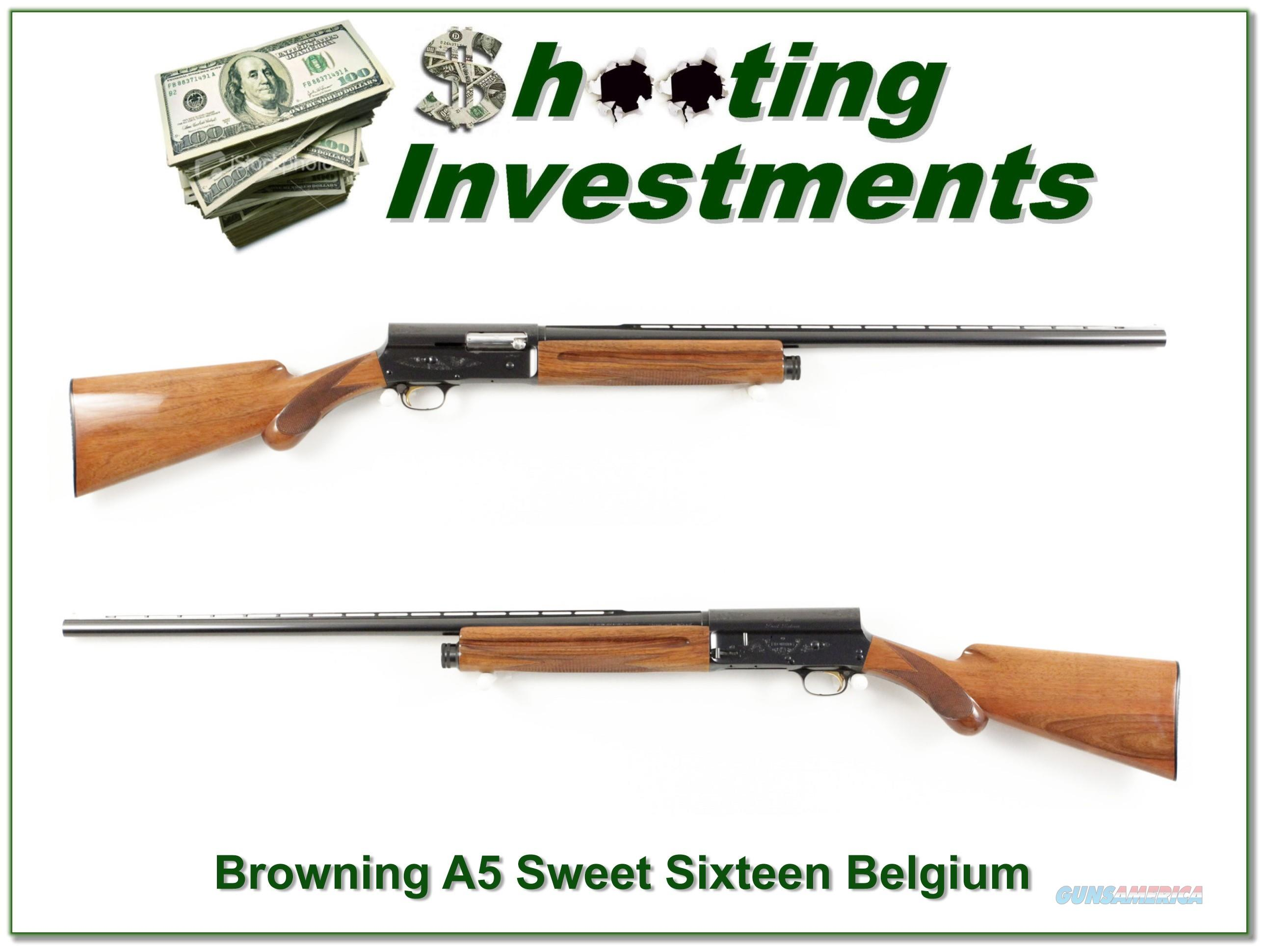 Browning A5 Sweet Sixteen 60 Belgium VR  Guns > Shotguns > Browning Shotguns > Autoloaders > Hunting