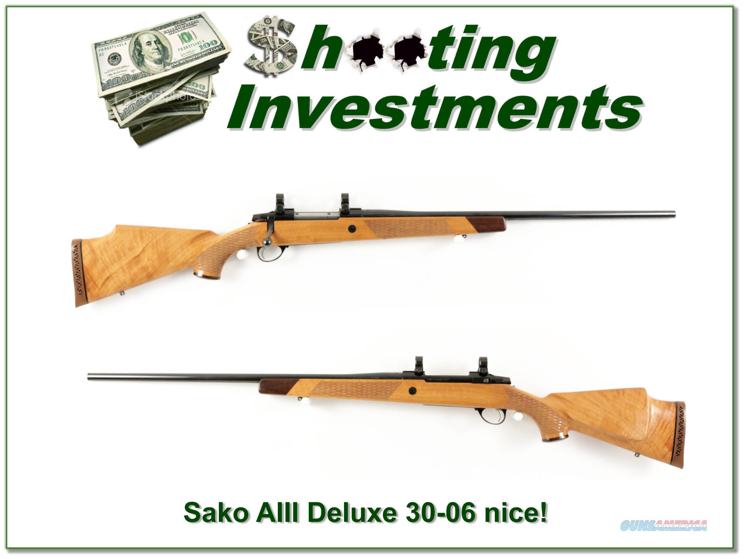 Sako AIII Deluxe 30-06 Blond Wood!  Guns > Rifles > Sako Rifles > Other Bolt Action