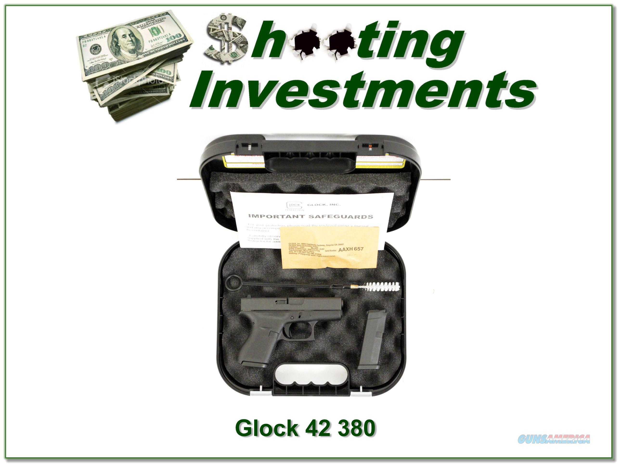 Glock 42 380 in the case with 2 6rd magazines!  Guns > Pistols > Glock Pistols > 42
