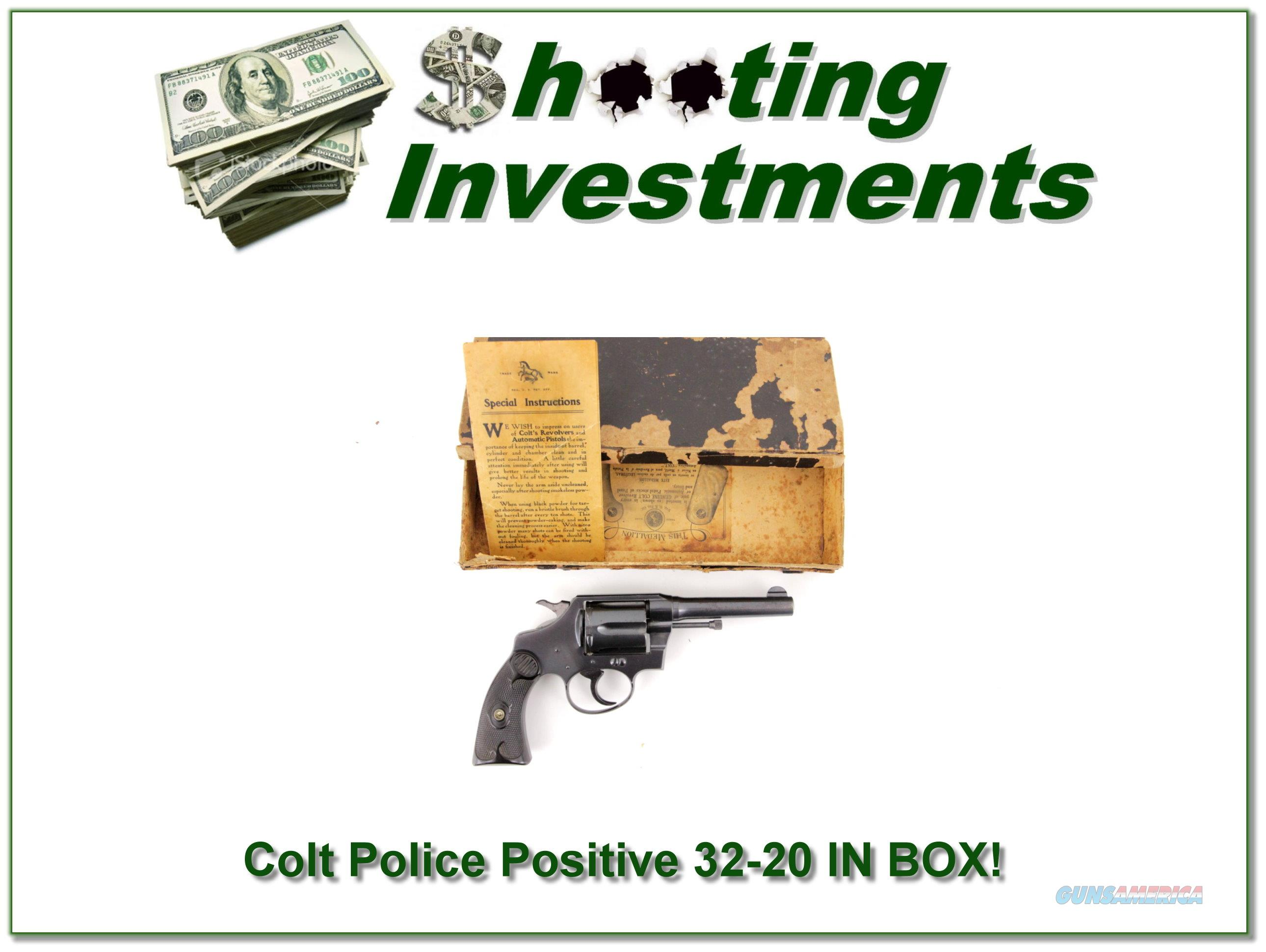 Colt Police Positive 1923 made 32-20 in original BOX!  Guns > Pistols > Colt Double Action Revolvers- Pre-1945