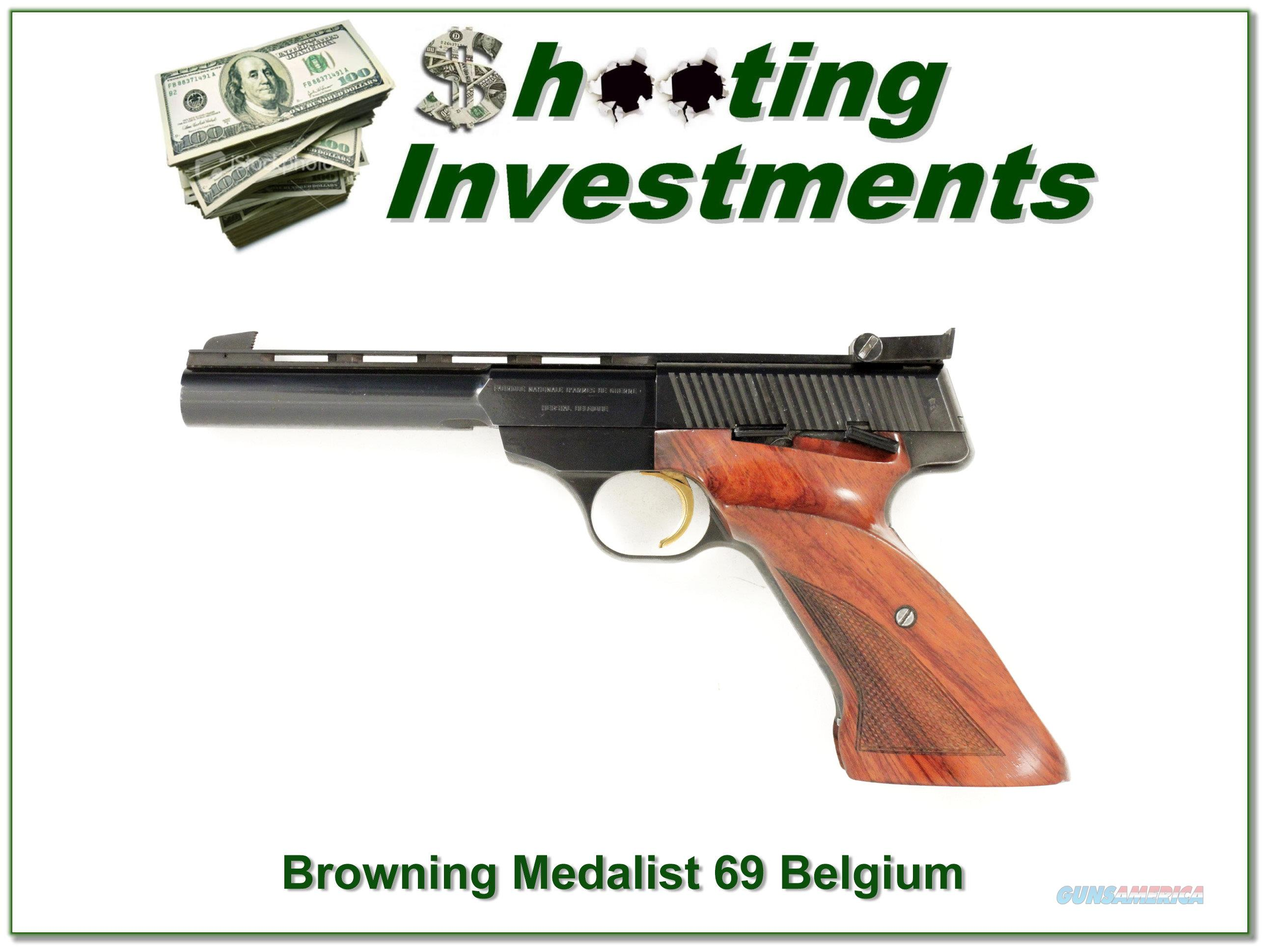 Browning Medalist 22 LR 1969 Belgium  Guns > Pistols > Browning Pistols > Other Autos