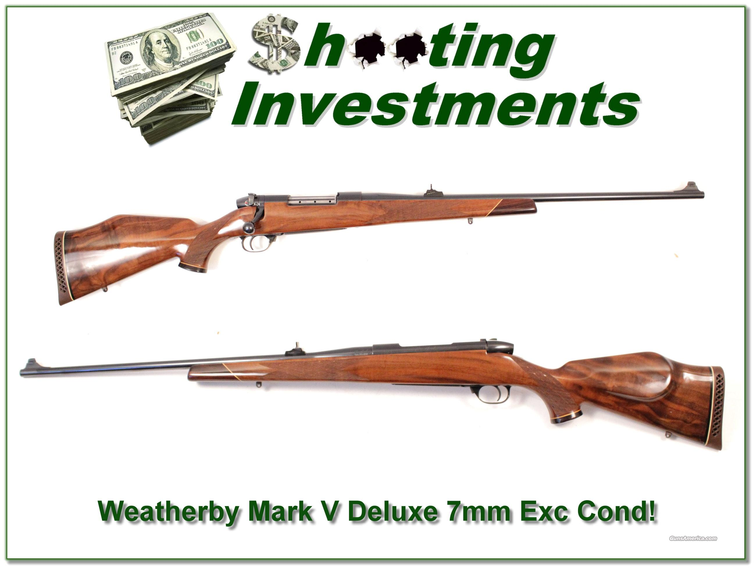 Weatherby Mark V Deluxe 7mm Wthy Mag Exc Cond!  Guns > Rifles > Weatherby Rifles > Sporting