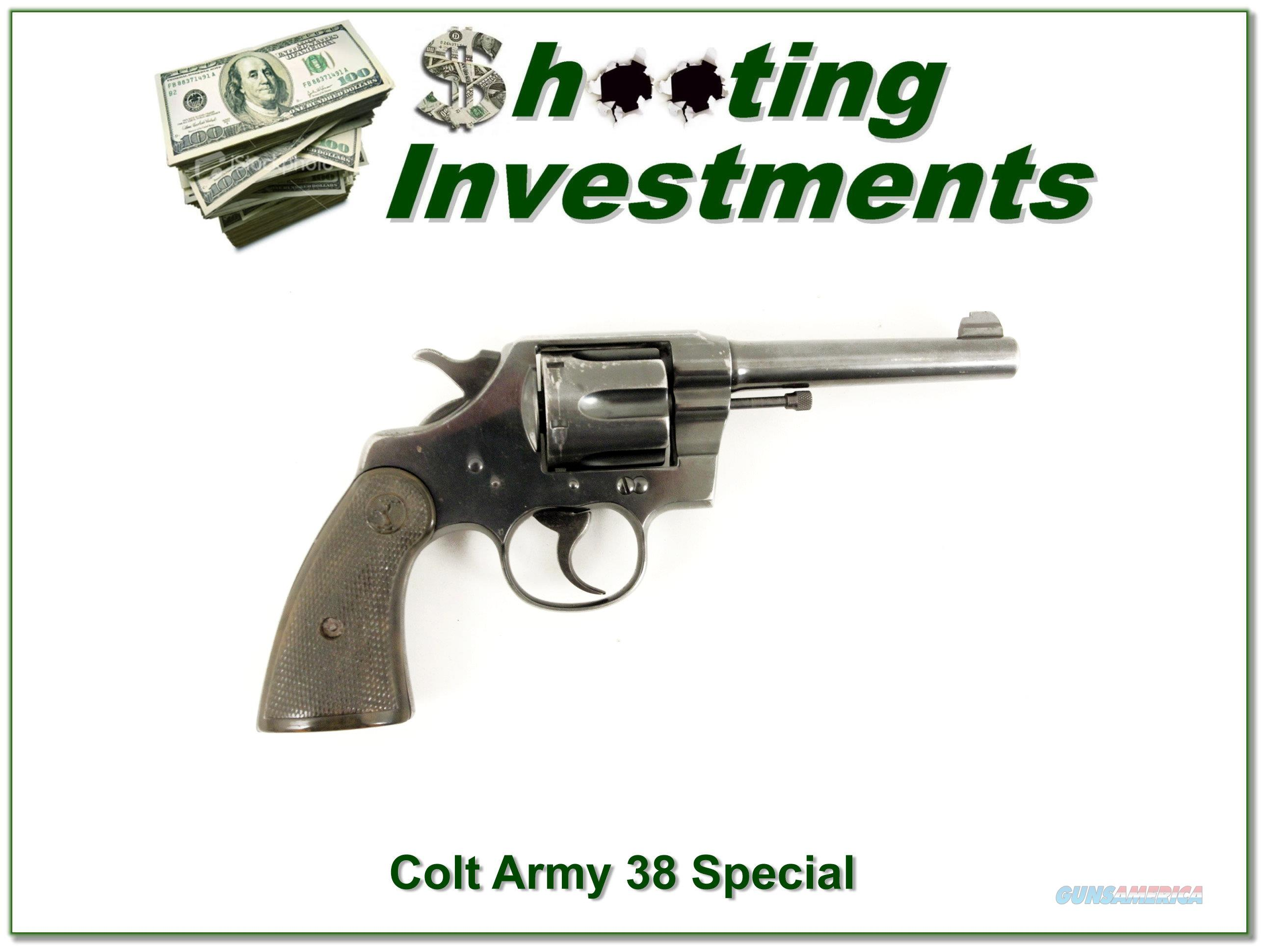 Colt Army Special 38 Special 5in made in 1922  Guns > Pistols > Colt Double Action Revolvers- Pre-1945