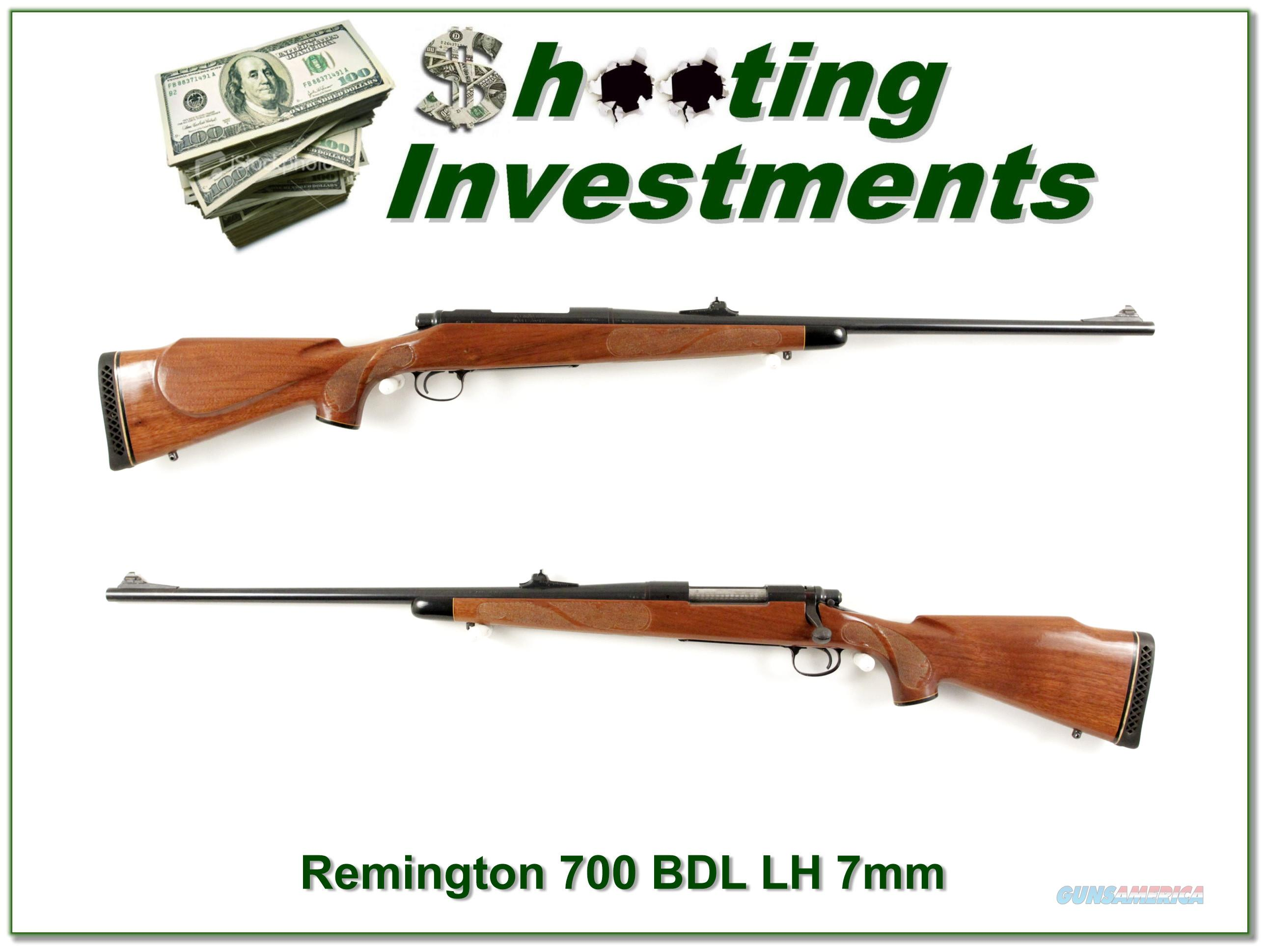 Early Remington 700 BDL Left Handed, Pressed Checkering 7mm  Guns > Rifles > Remington Rifles - Modern > Model 700 > Sporting