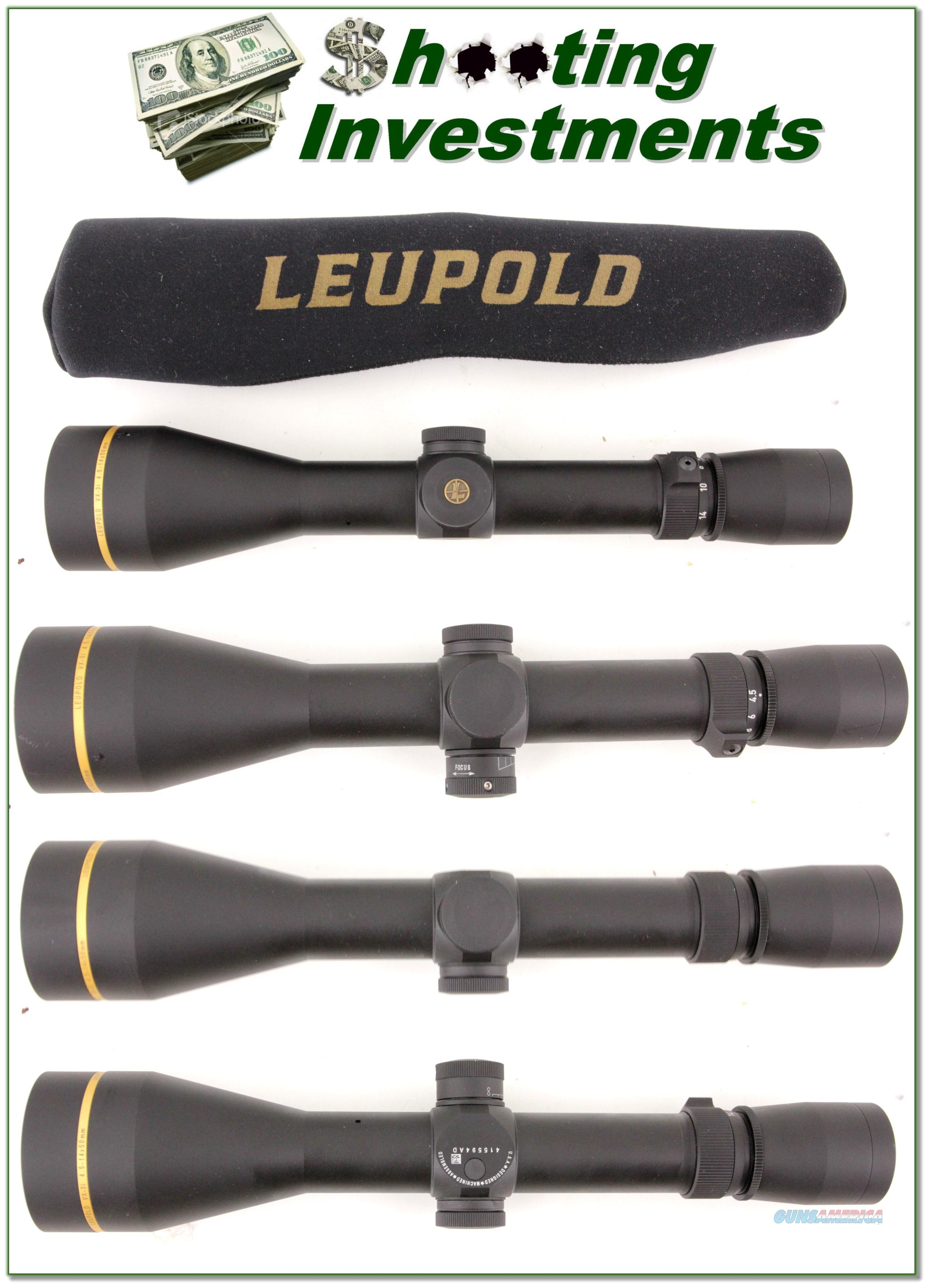 New Condition Leupold VX-3i 4.5-14x50mm 30mm AO  Non-Guns > Scopes/Mounts/Rings & Optics > Rifle Scopes > Variable Focal Length