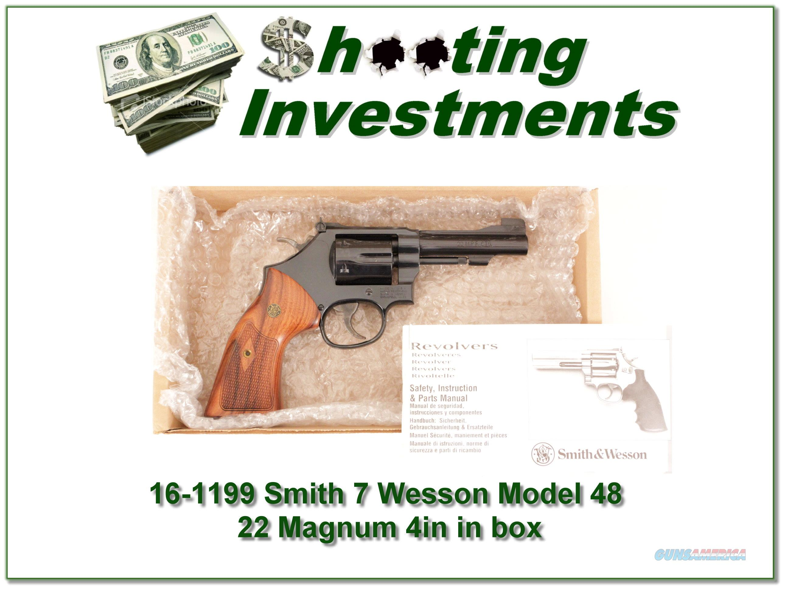 Smith & Wesson Model 48-7 4in 22 Magnum ANIB!  Guns > Pistols > Smith & Wesson Revolvers > Med. Frame ( K/L )