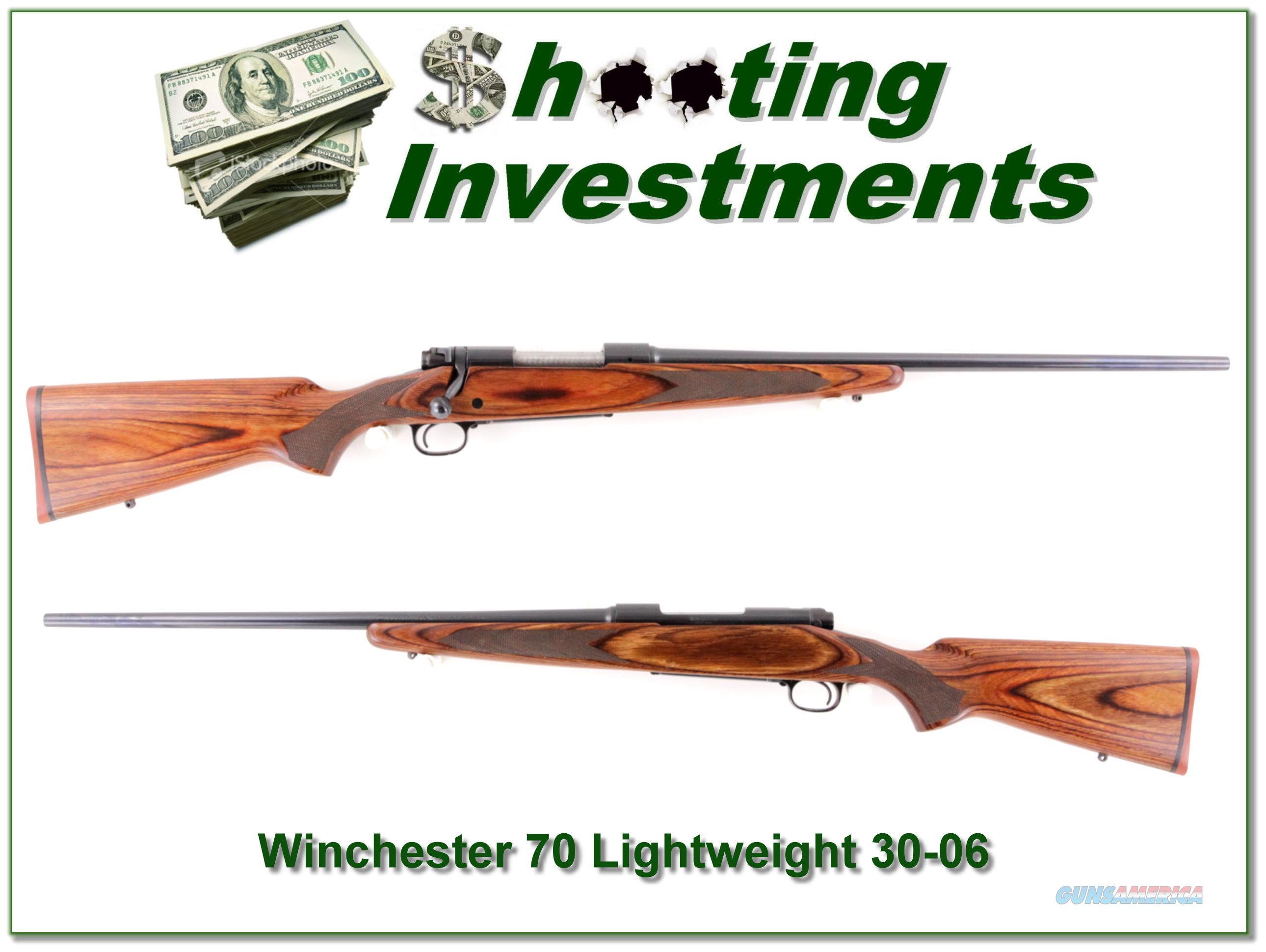 Winchester Model 70 Laminate Lightweight 30-06  Guns > Rifles > Winchester Rifles - Modern Bolt/Auto/Single > Model 70 > Post-64