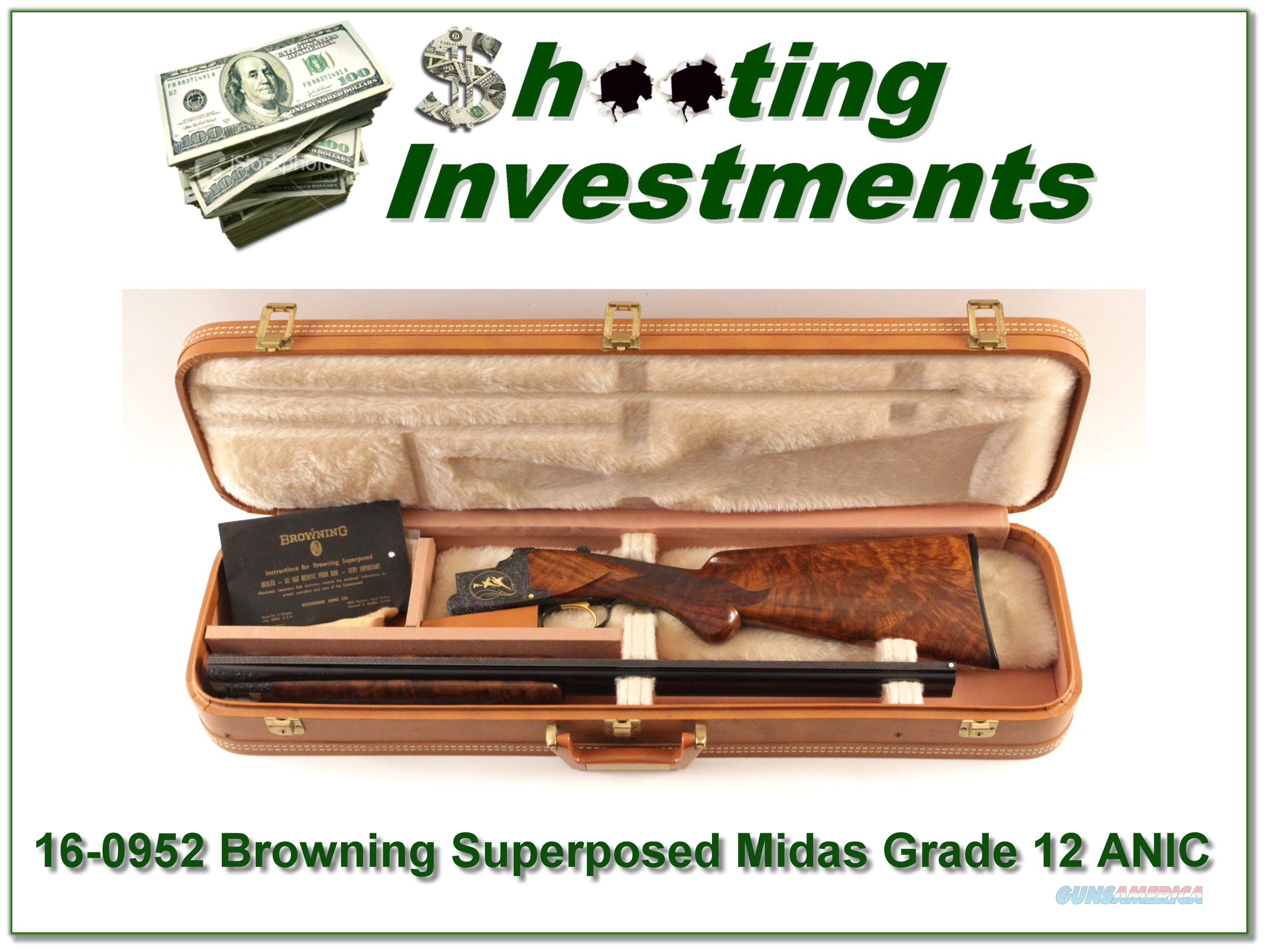 Browning Superposed Midas Grade 12 Ga Long Tang Round Knob!  Guns > Shotguns > Browning Shotguns > Over Unders > Other OU > Hunting