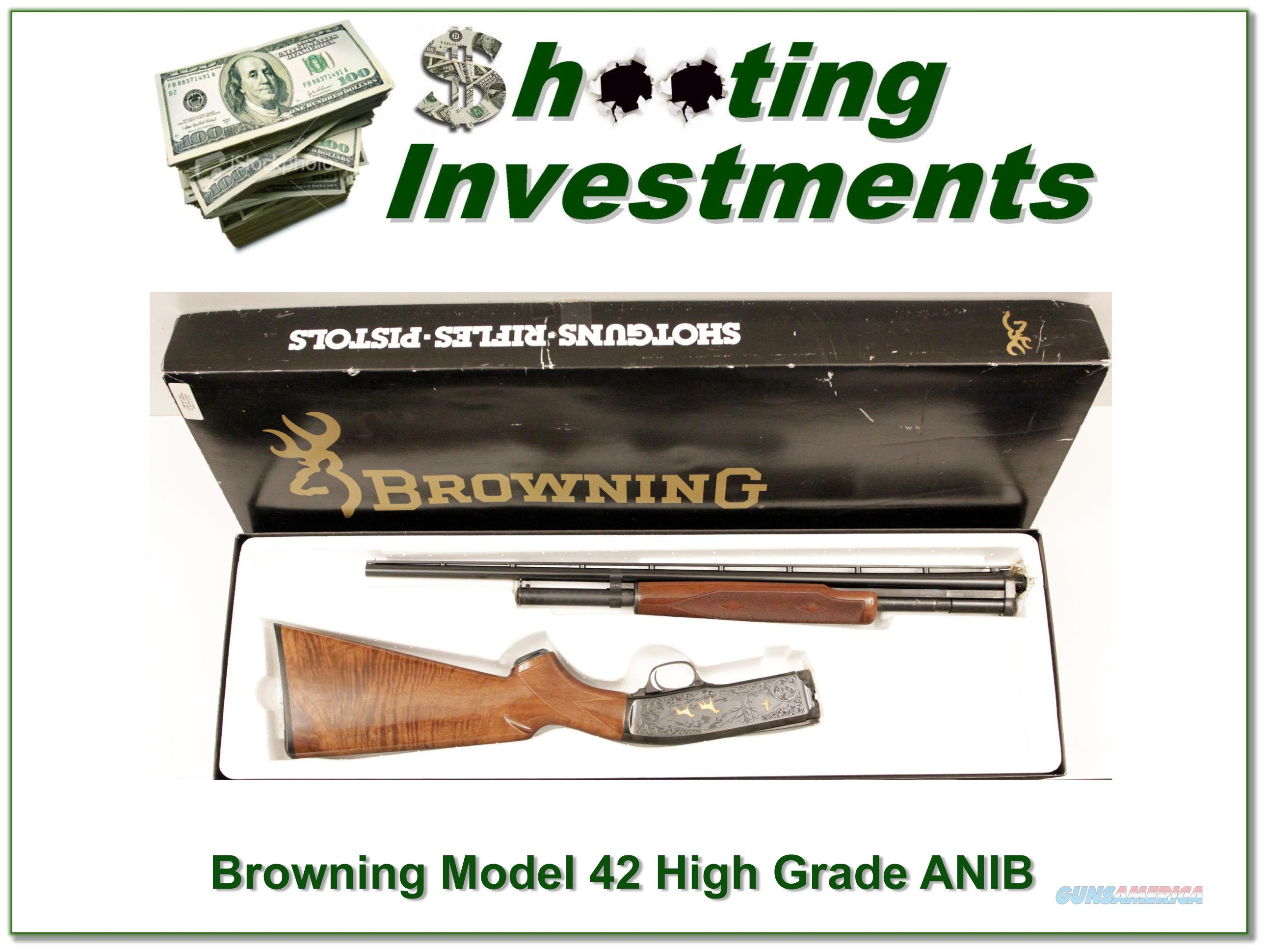 Browning Model 42 High Grade 5 410 Gauge ANIB  Guns > Shotguns > Browning Shotguns > Pump Action > Hunting