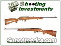 Weatherby Mark XXII 22 rimfire semi-auto  Guns > Rifles > Weatherby Rifles > Sporting