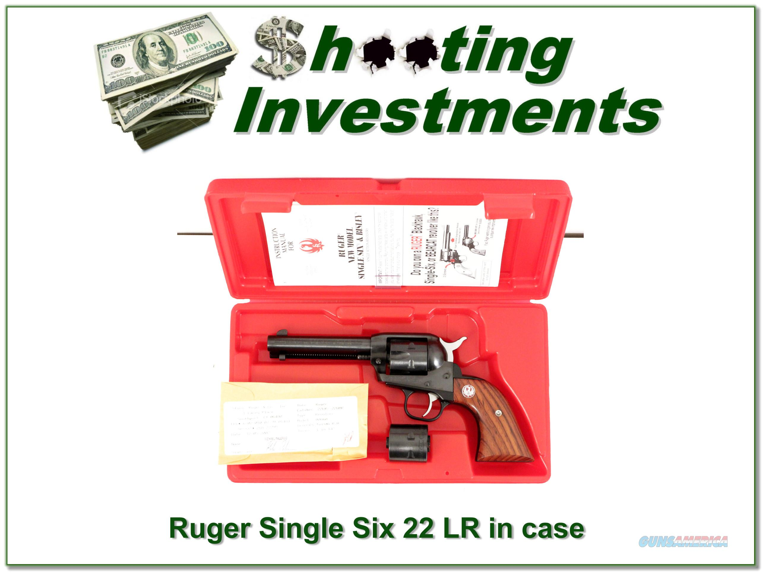 Ruger Single Six 50th year 22LR & 22 Mag NIC!  Guns > Pistols > Ruger Single Action Revolvers > Single Six Type