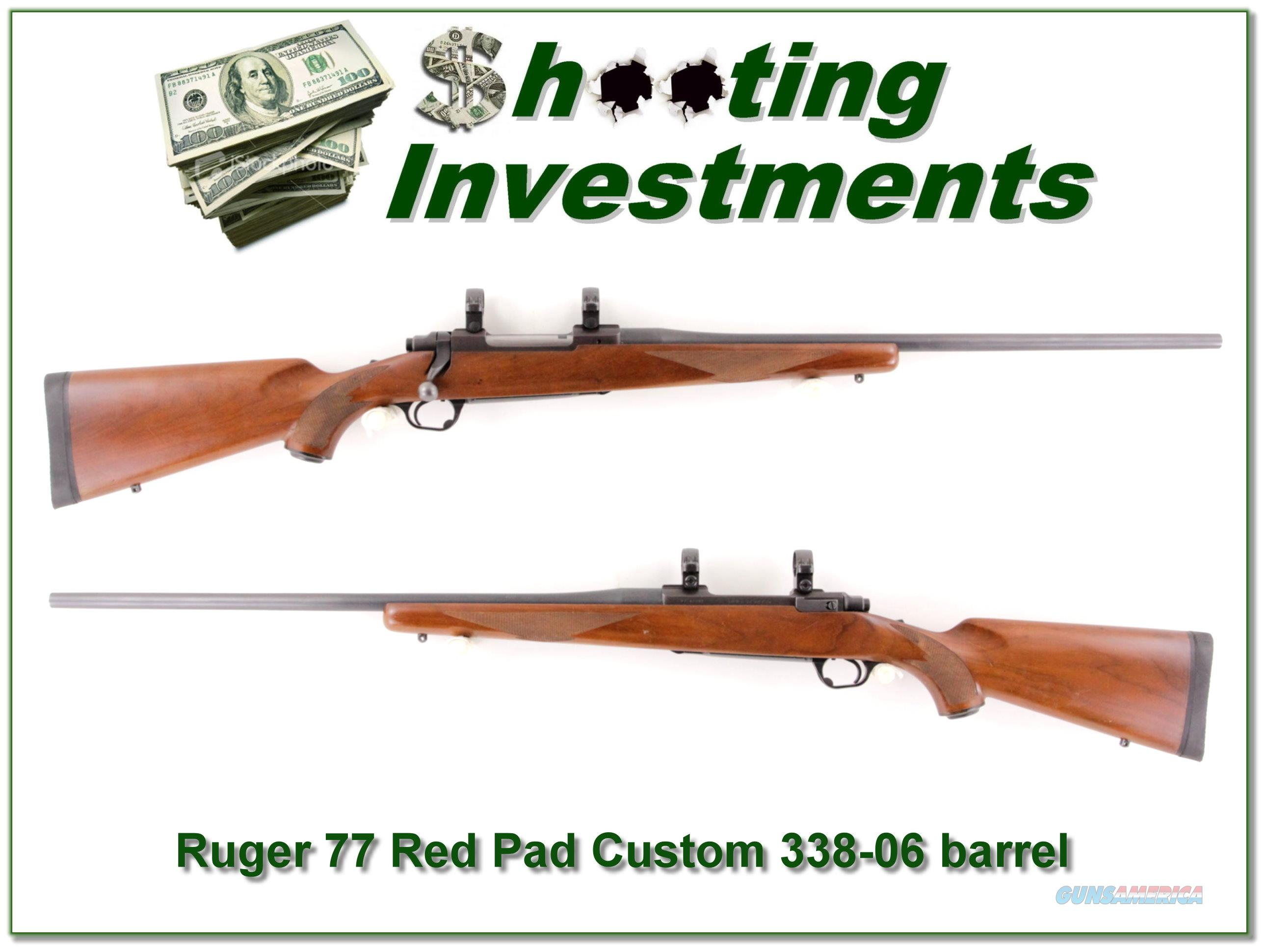 Ruger 77 Red Pad Custom 338-06  Guns > Rifles > Ruger Rifles > Model 77
