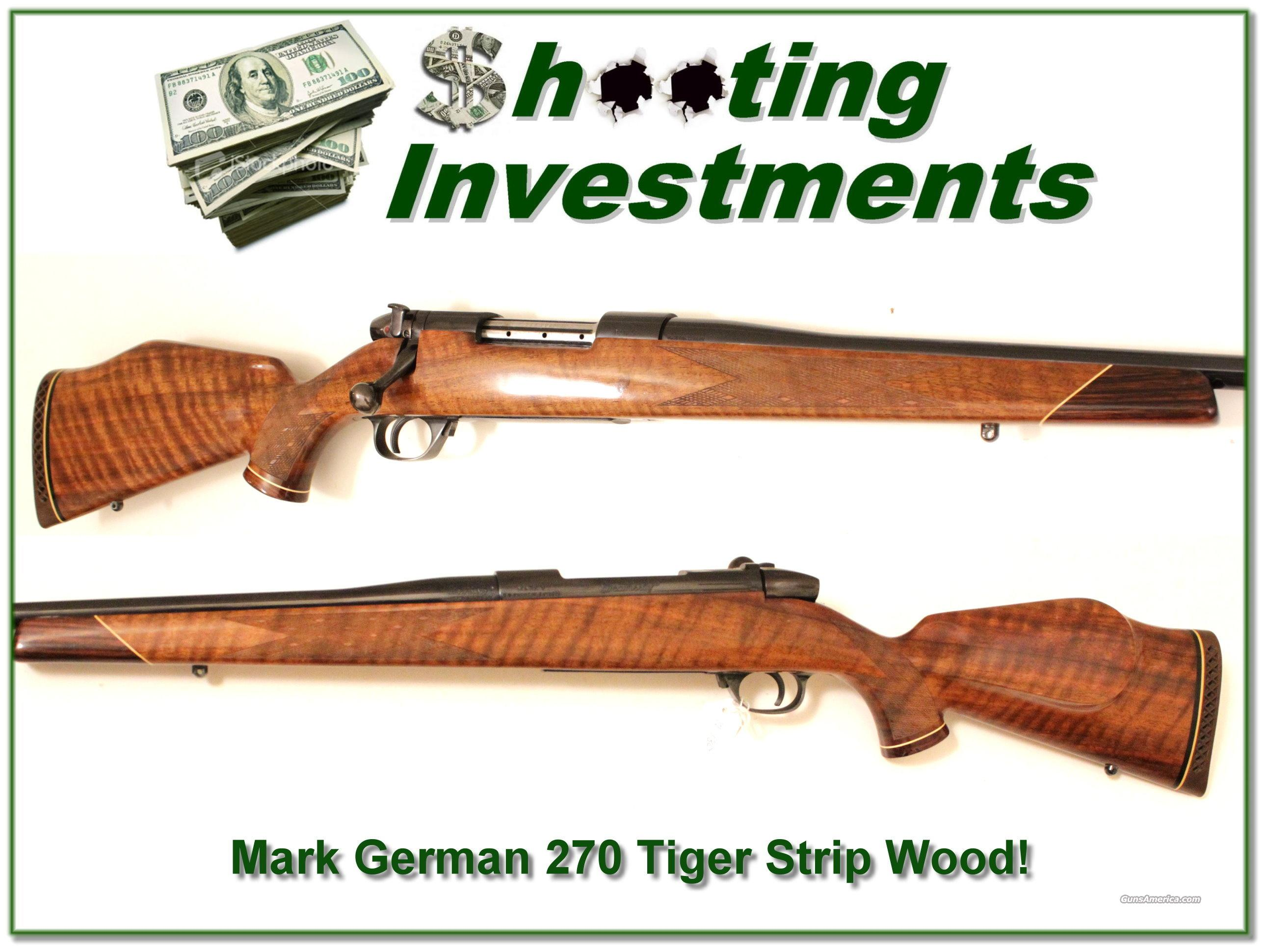 Weatherby Mark V German 270 Tiger Strip Wood!  Guns > Rifles > Weatherby Rifles > Sporting