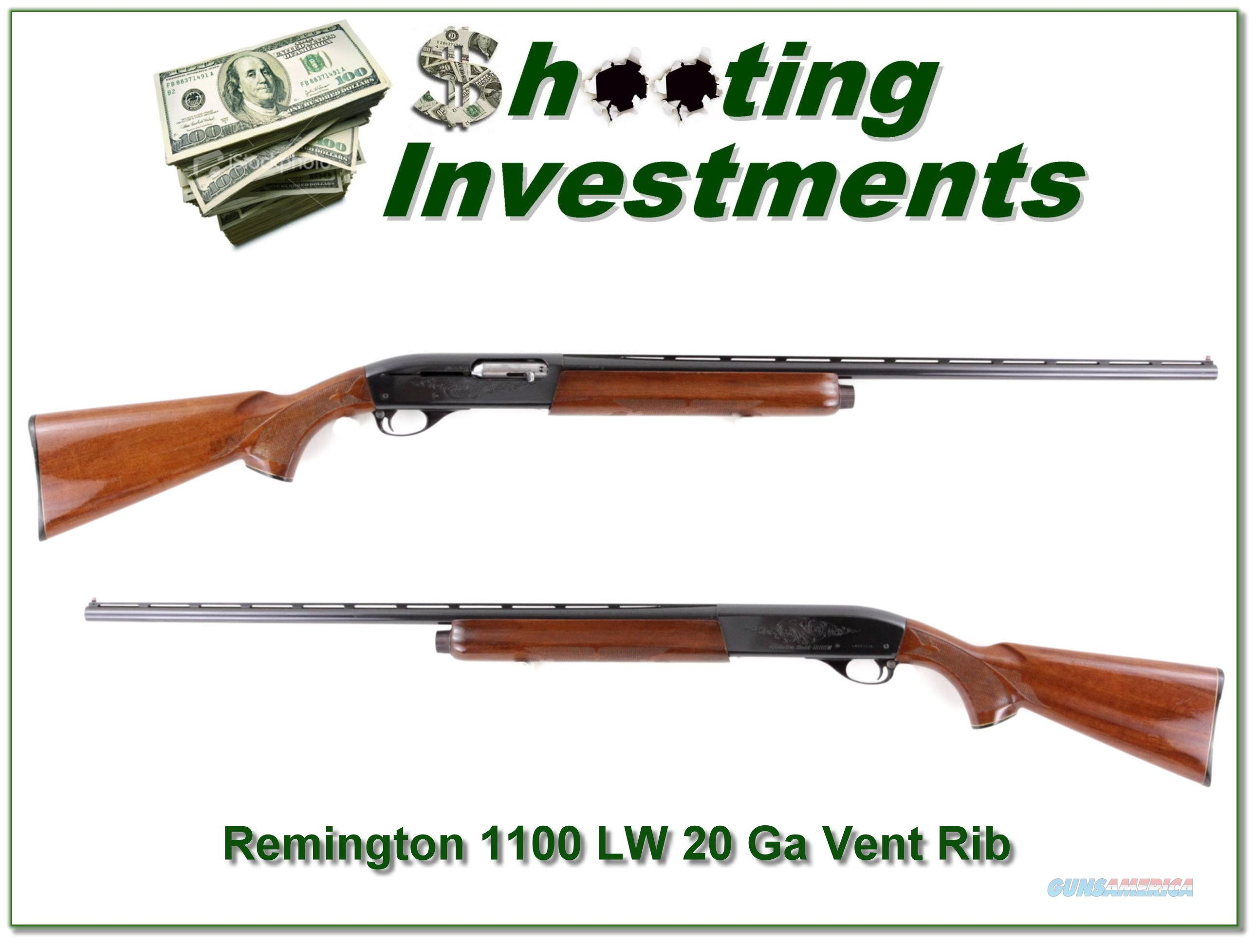 Remington 1100 LW 1100LW 20 Gauge Vent Rib  Guns > Shotguns > Remington Shotguns  > Autoloaders > Hunting
