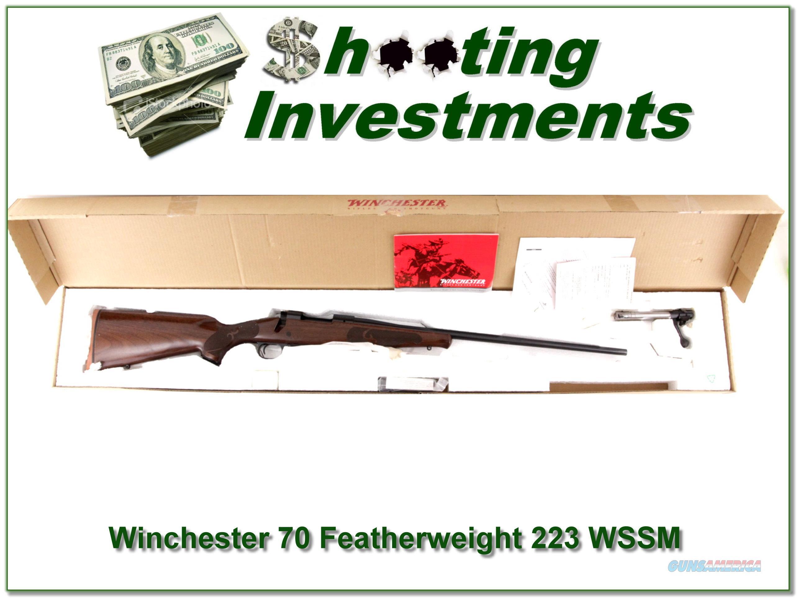 Winchester Model 70 Featherweight RARE 223 WSSM  Guns > Rifles > Winchester Rifles - Modern Bolt/Auto/Single > Model 70 > Post-64
