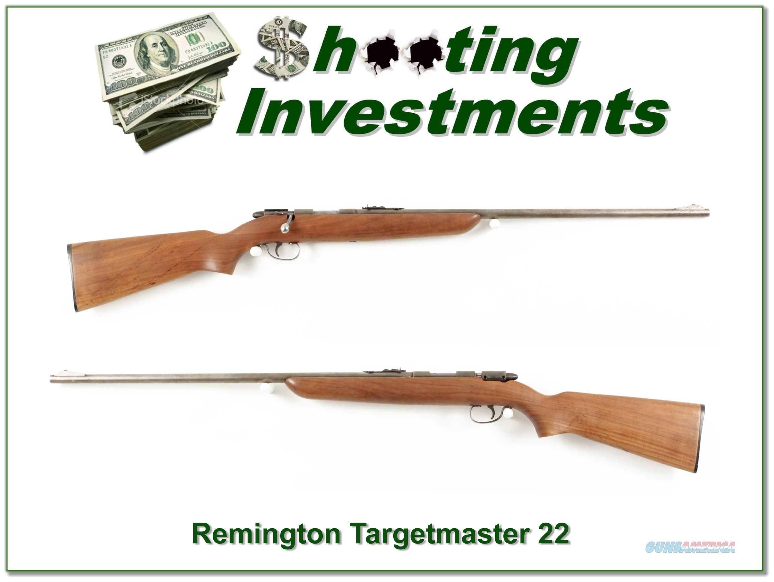 Remington Targetmaster 22 L and Short Single shot  Guns > Rifles > Remington Rifles - Modern > .22 Rimfire Models