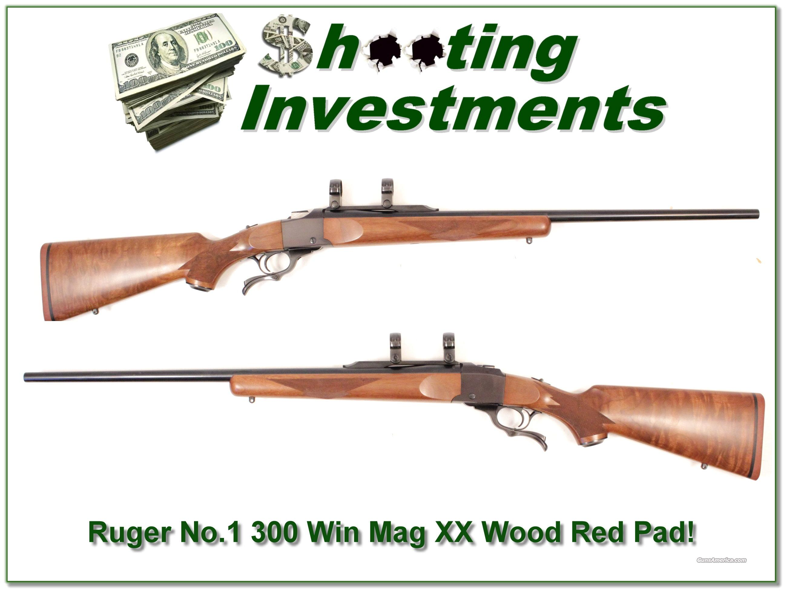 Ruger No.1 300 Winchester Magnum XX Wood Red Pad!  Guns > Rifles > Ruger Rifles > #1 Type