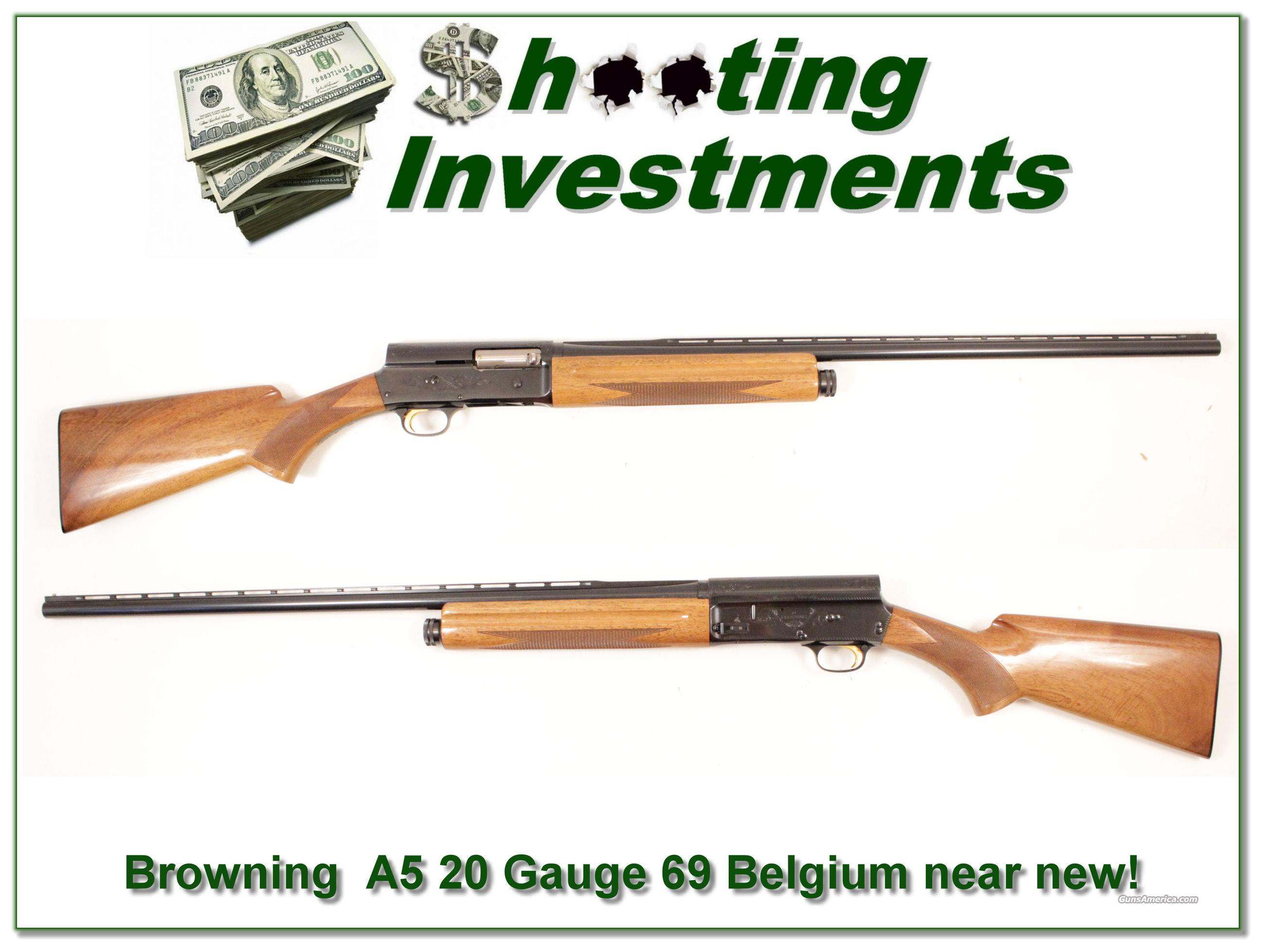 Browning A5 Magnum 20 Gauge 69 Belgium as new  Guns > Shotguns > Browning Shotguns > Autoloaders > Hunting