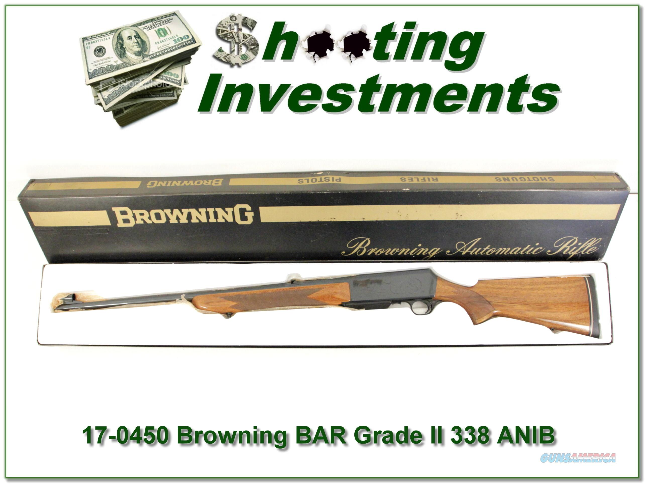 Browning BAR Grade II 338 unfired, 70 Belgium Blond!  Guns > Rifles > Browning Rifles > Semi Auto > Hunting
