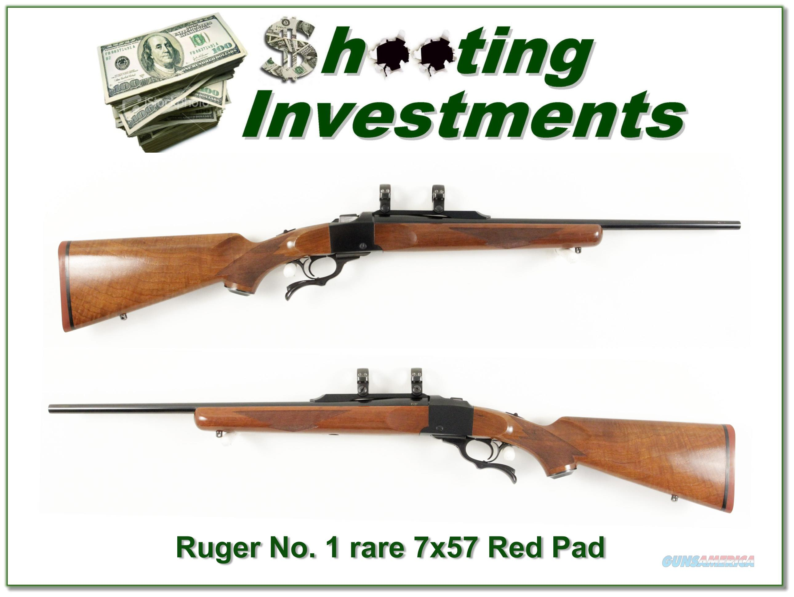 Ruger No.1 Red Pad hard to find 7x57 Exc Cond!  Guns > Rifles > Ruger Rifles > #1 Type