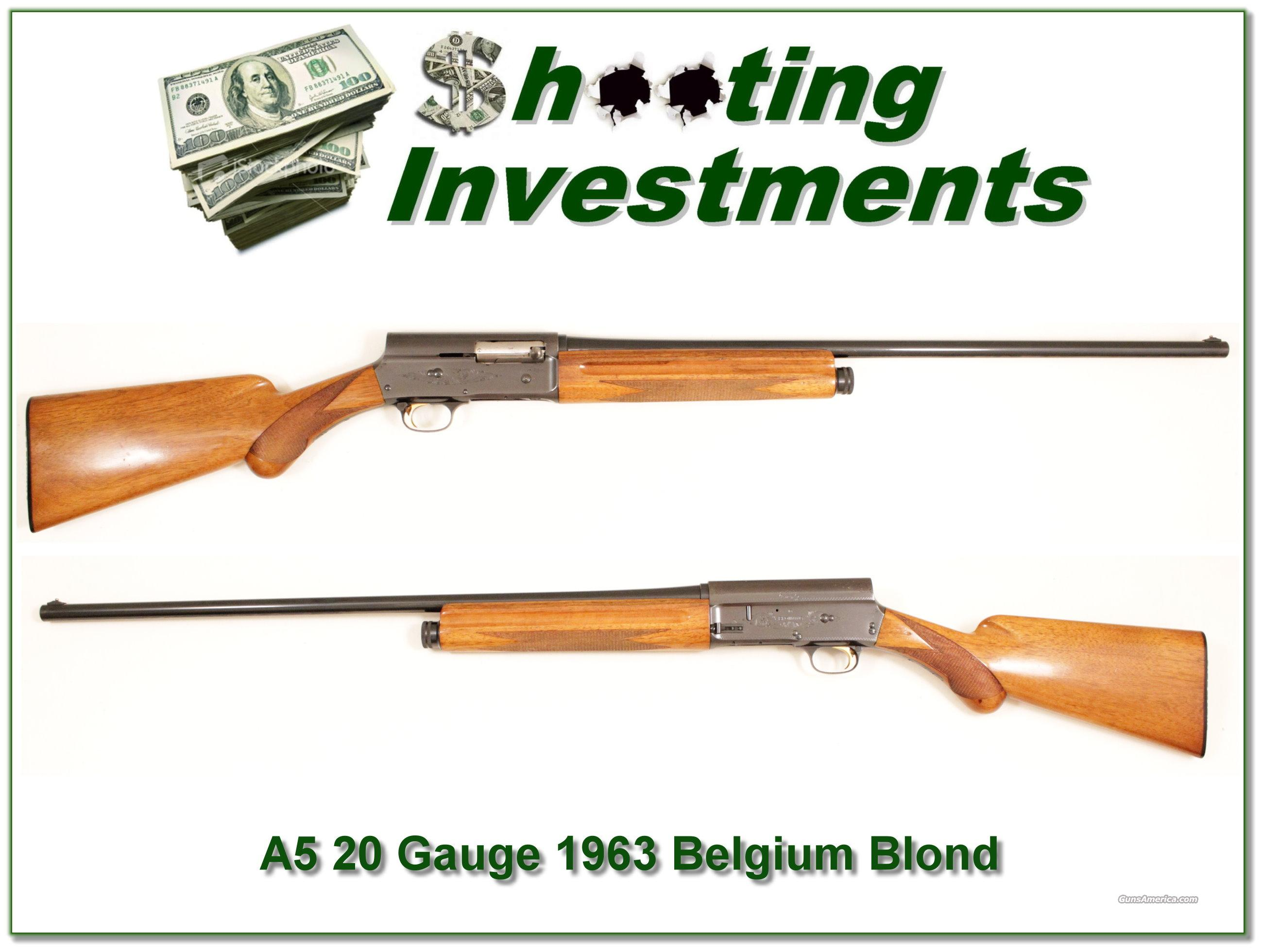 Browning A5 '63 20 Gauge blond  Guns > Shotguns > Browning Shotguns > Autoloaders > Hunting