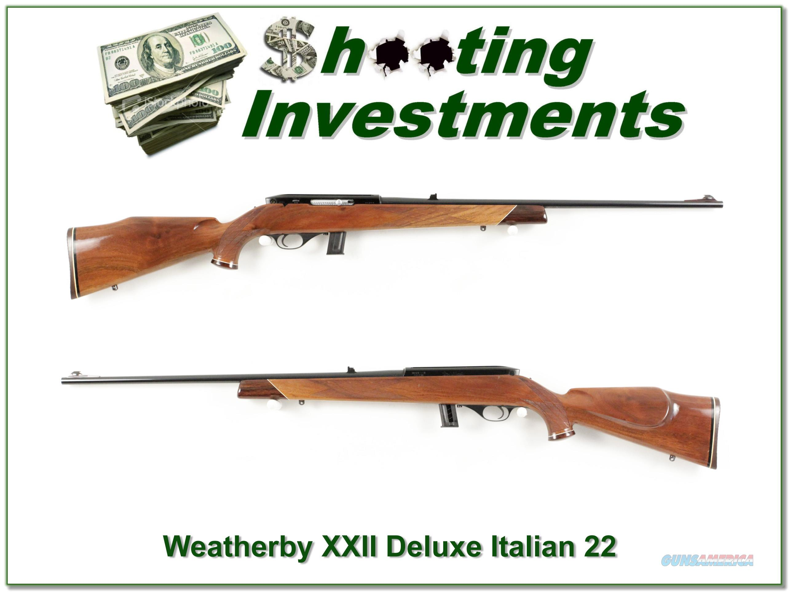 Weatherby XXII 22 Auto Deluxe Italian Exc!  Guns > Rifles > Weatherby Rifles > Sporting