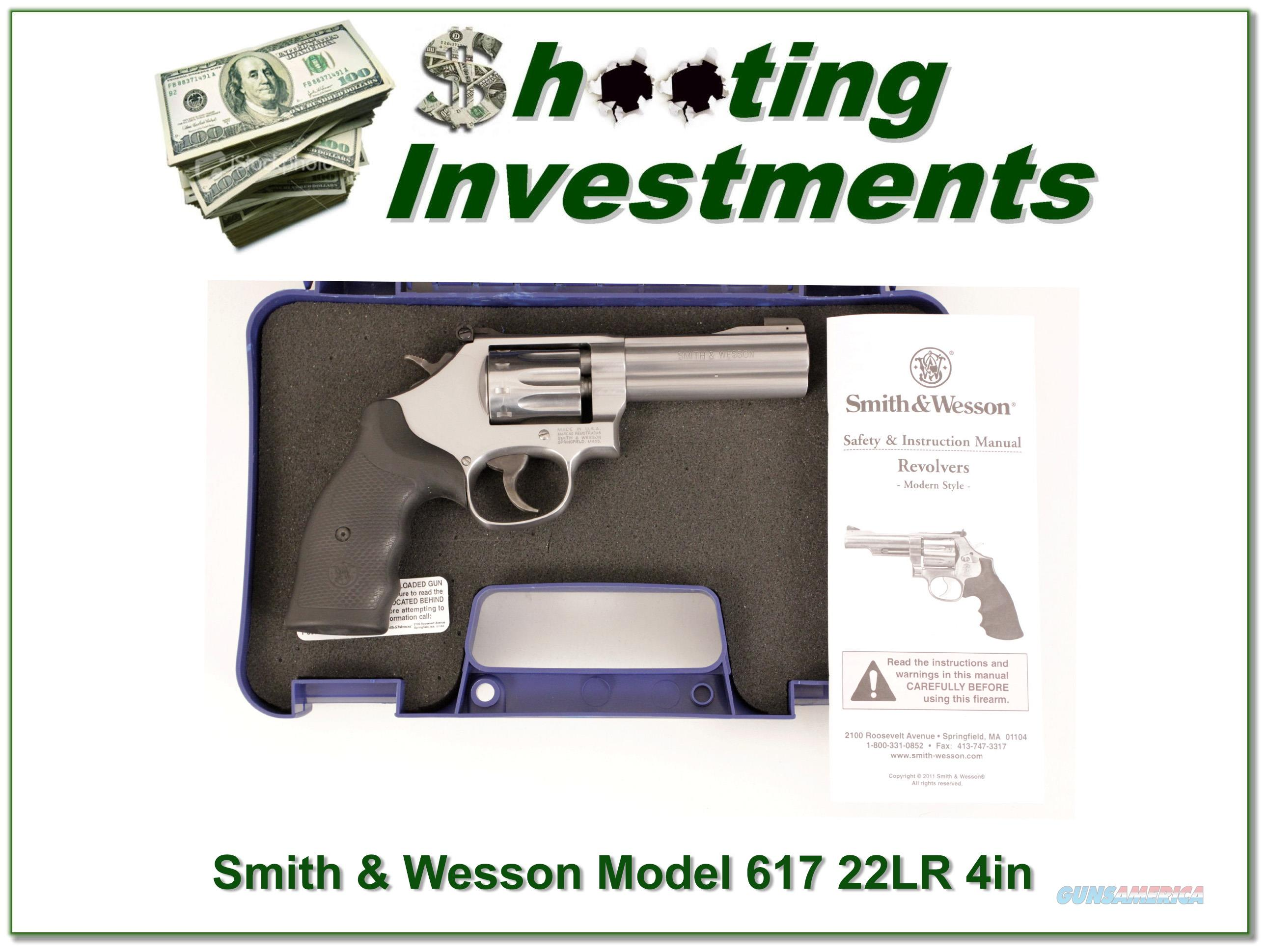 Smith & Wesson 617 4in 22LR Stainless ANIC  Guns > Pistols > Smith & Wesson Revolvers > Small Frame ( J )