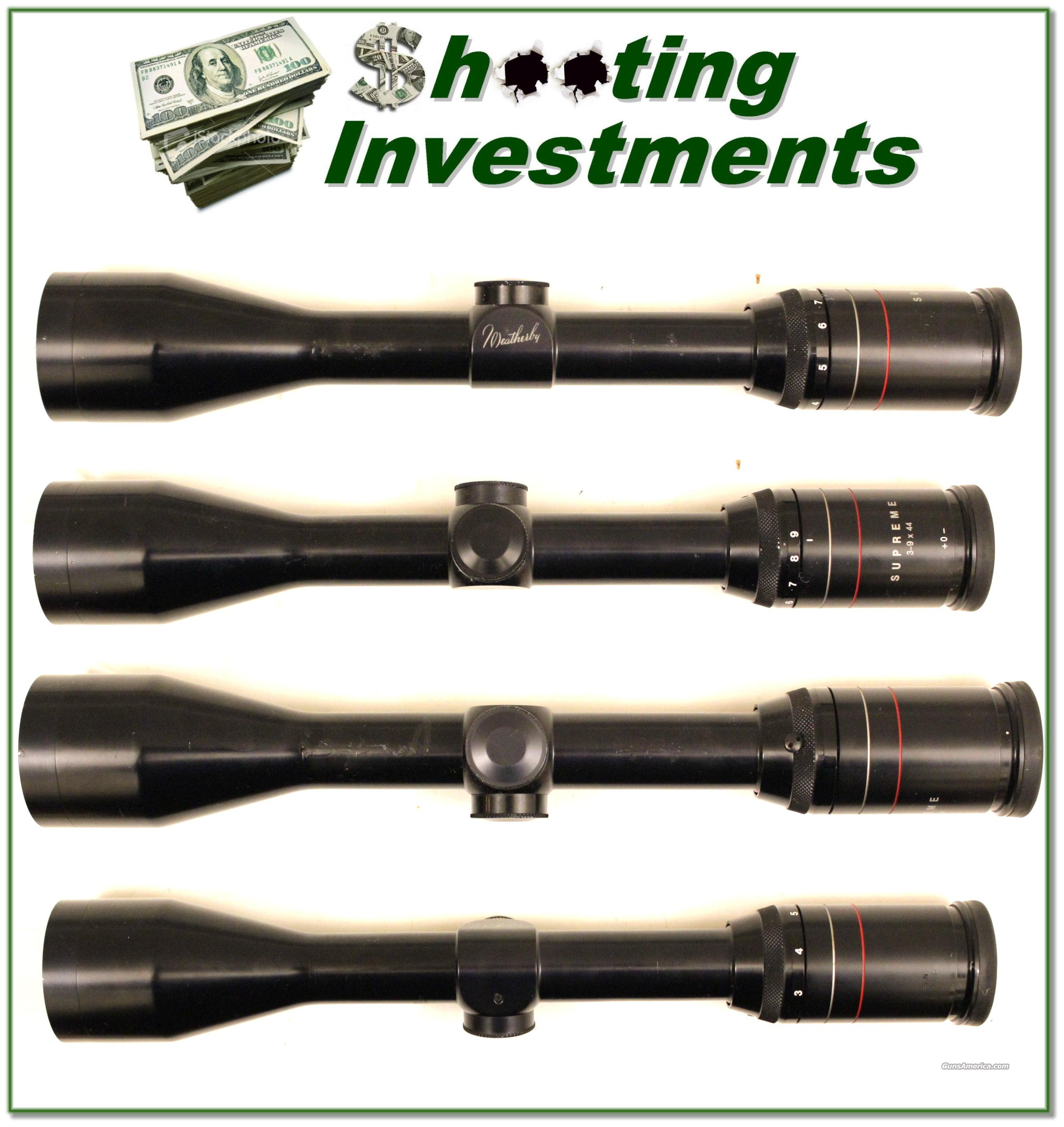 Weatherby 3-9 Supreme rifle scope  Non-Guns > Scopes/Mounts/Rings & Optics > Rifle Scopes > Variable Focal Length