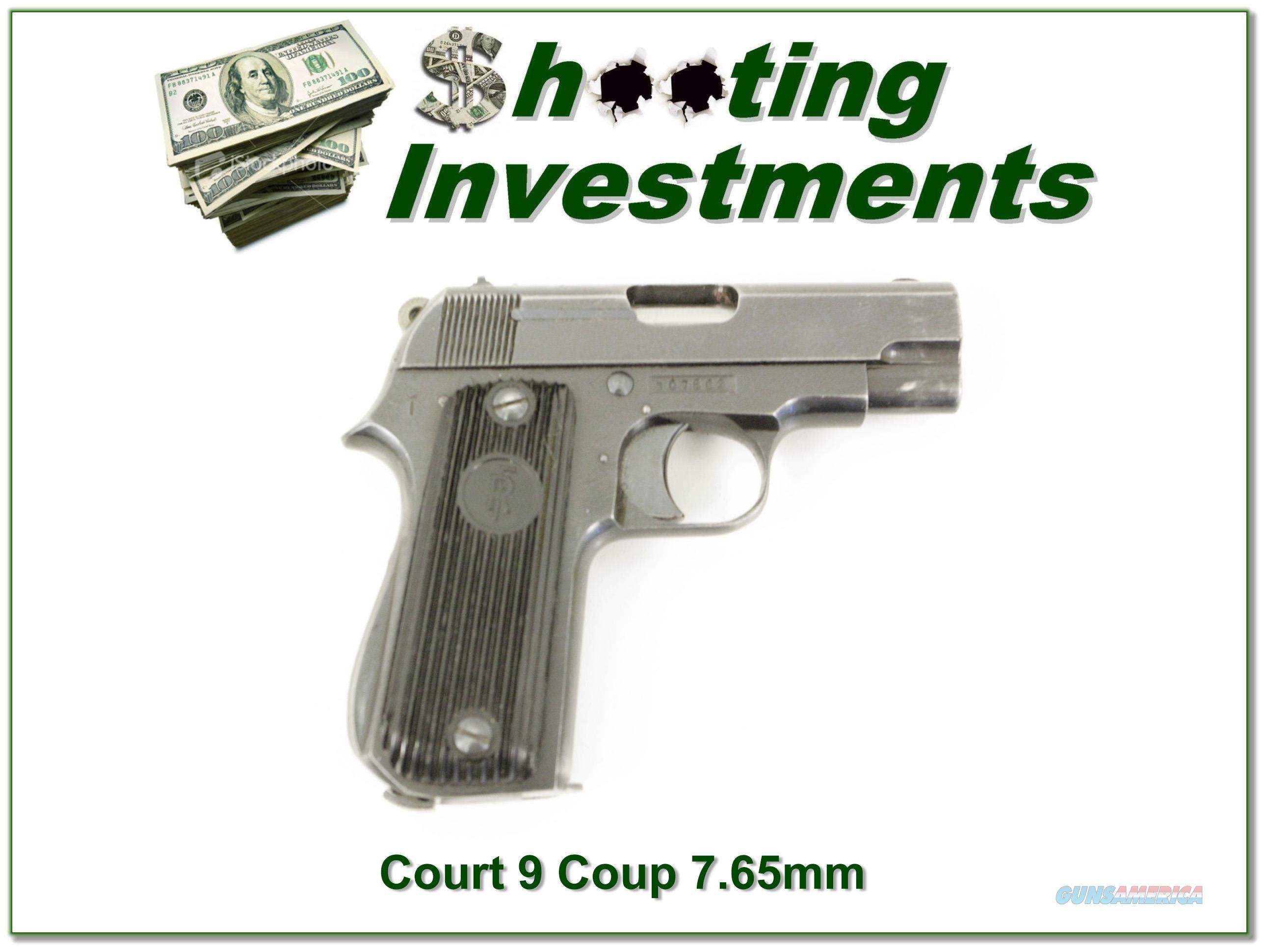 Court 9 Coup 7.65mm Exc Cond  Guns > Pistols > Military Misc. Pistols Non-US