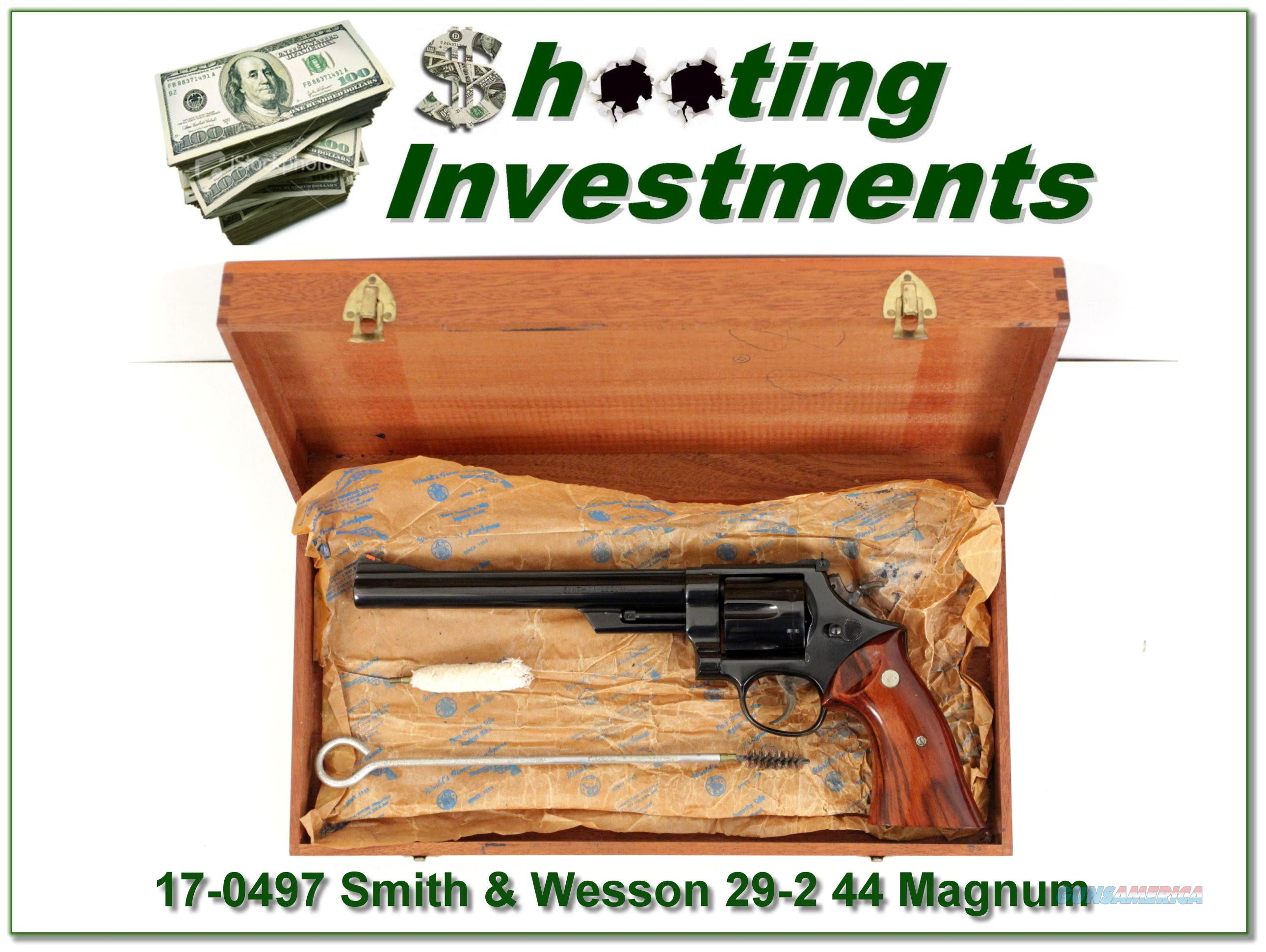Smith & Wesson 29-2 44 Mag 8 3/8in Exc Cond in wooden case  Guns > Pistols > Smith & Wesson Pistols - Autos > Steel Frame