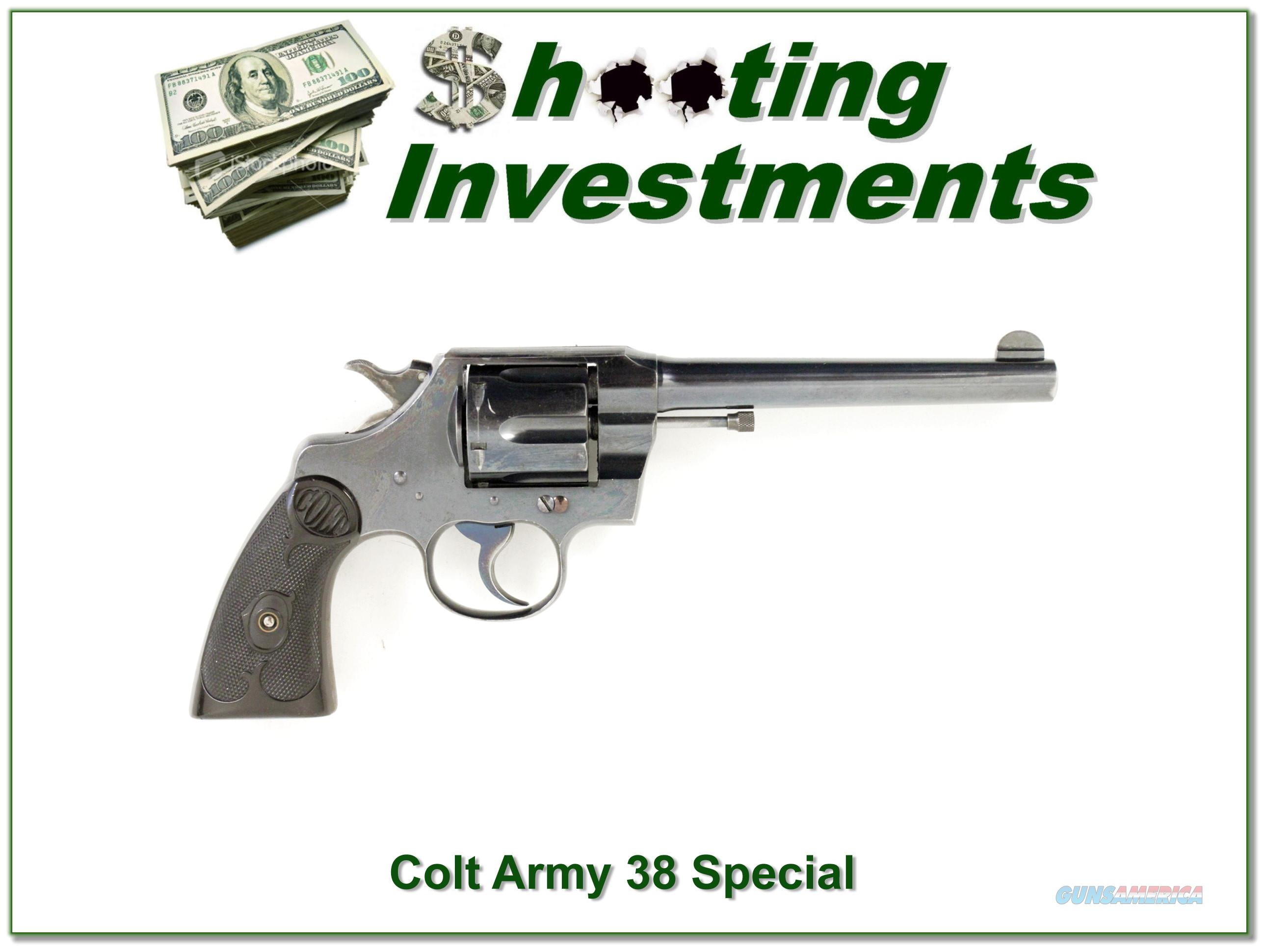 Colt Army 38 Special 6in nice gun!  Guns > Pistols > Colt Double Action Revolvers- Modern