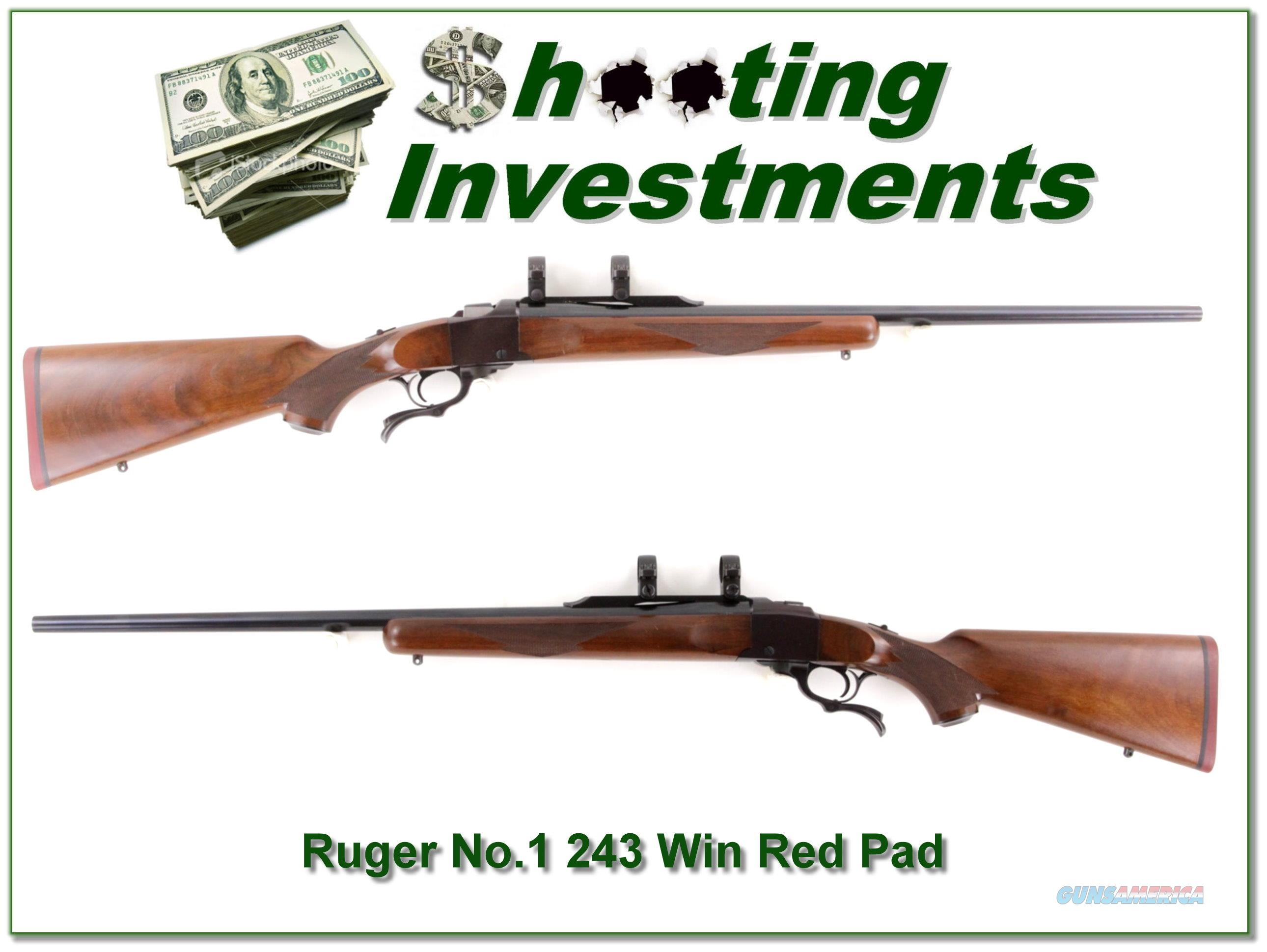 Ruger No.1 B Red Pad 243 Winchester 26in barrel  Guns > Rifles > Ruger Rifles > #1 Type