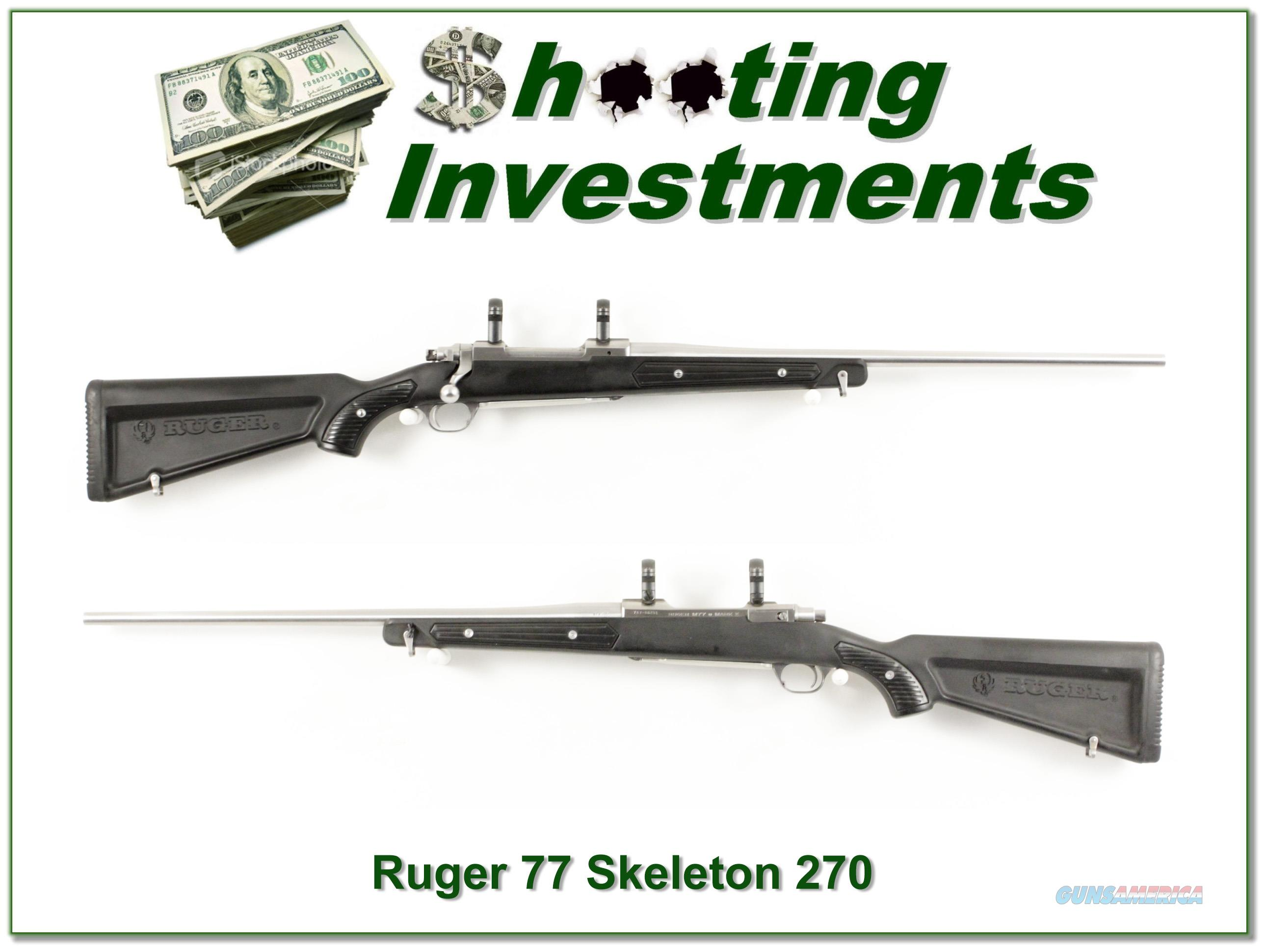 "Ruger Mark II Stainless ""Skeleton"" 270 Win Nice!  Guns > Rifles > Ruger Rifles > American Rifle"