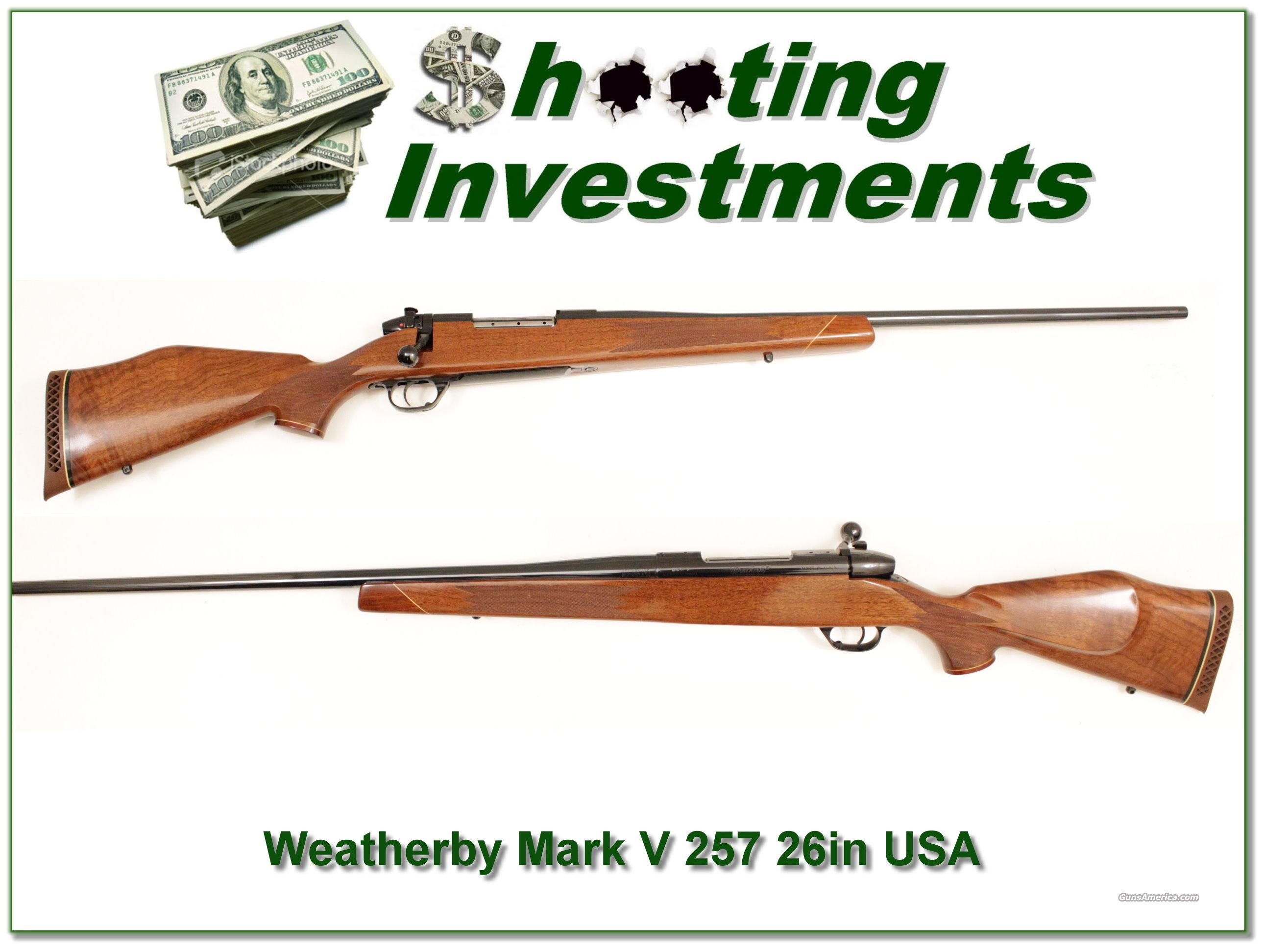 Weatherby Mark V Deluxe 257 USA Made as new  Guns > Rifles > Weatherby Rifles > Sporting