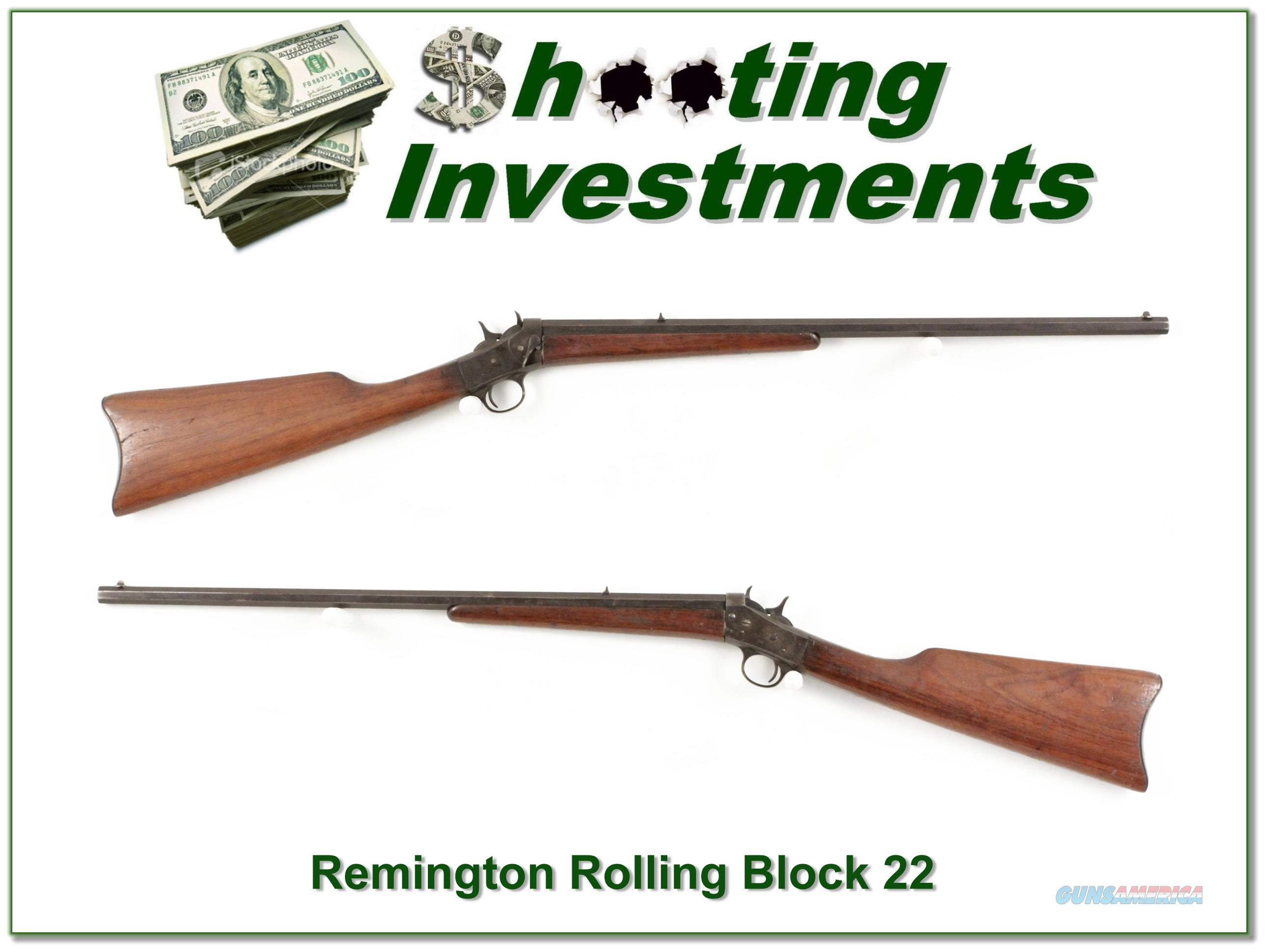 Remington Rolling Block 22 made in 1908!  Guns > Rifles > Remington Rifles - Modern > Other