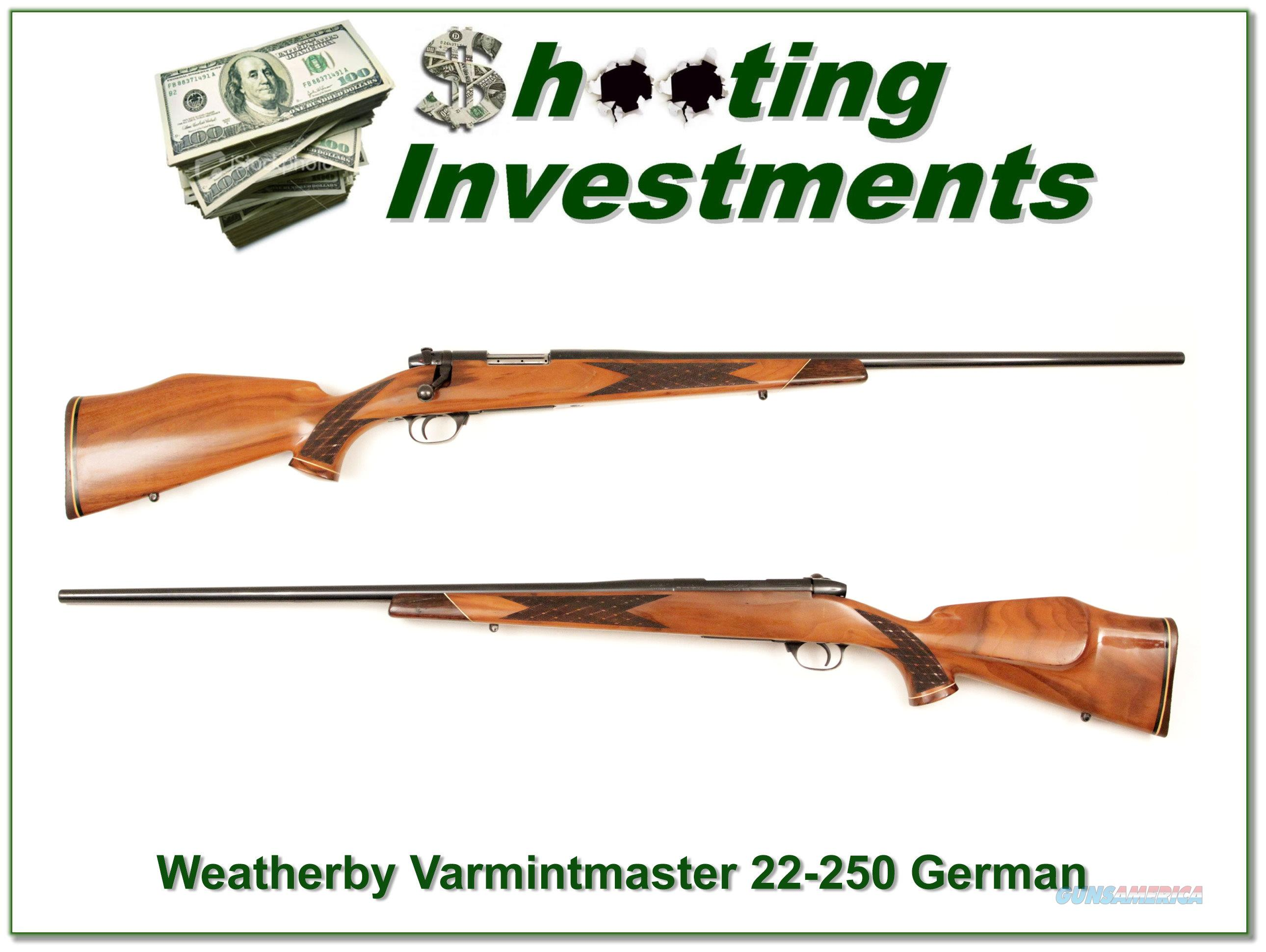 Weatherby Mark V Varmintmaster German 26in 22-250  Guns > Rifles > Weatherby Rifles > Sporting