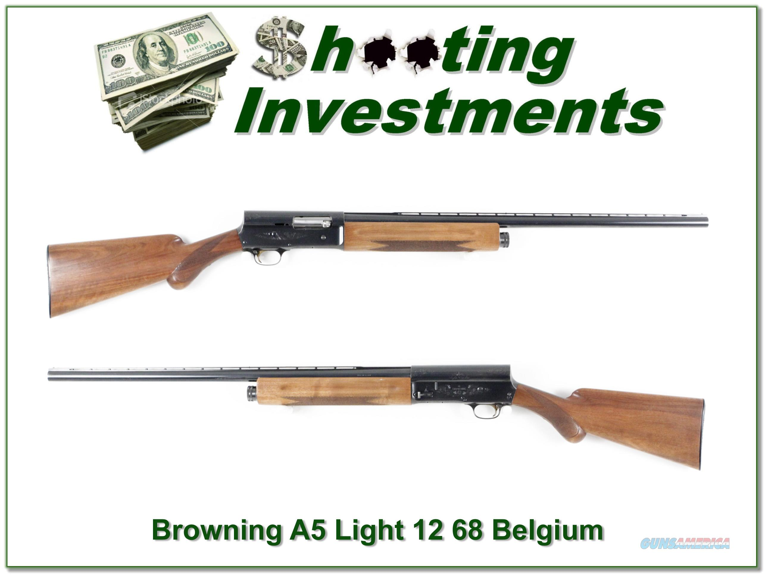 Browning A5 Light 12 66 Belgium Honey Blond  Guns > Shotguns > Browning Shotguns > Autoloaders > Hunting