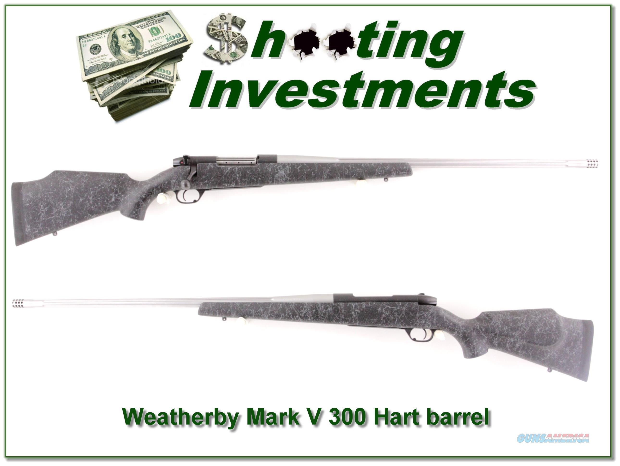 Weatherby Mark V Accumark with 26in Hart fluted barrel